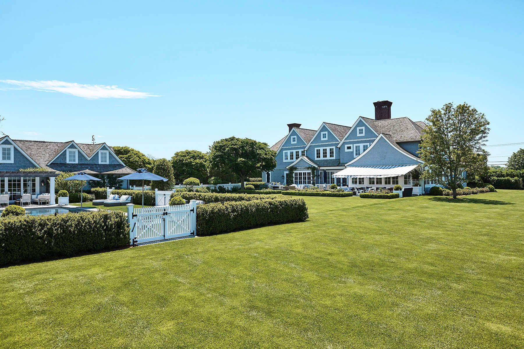 Single Family Homes for Sale at Magnificent Estate on 2 Lots 944 Mecox Road Bridgehampton, New York 11932 United States
