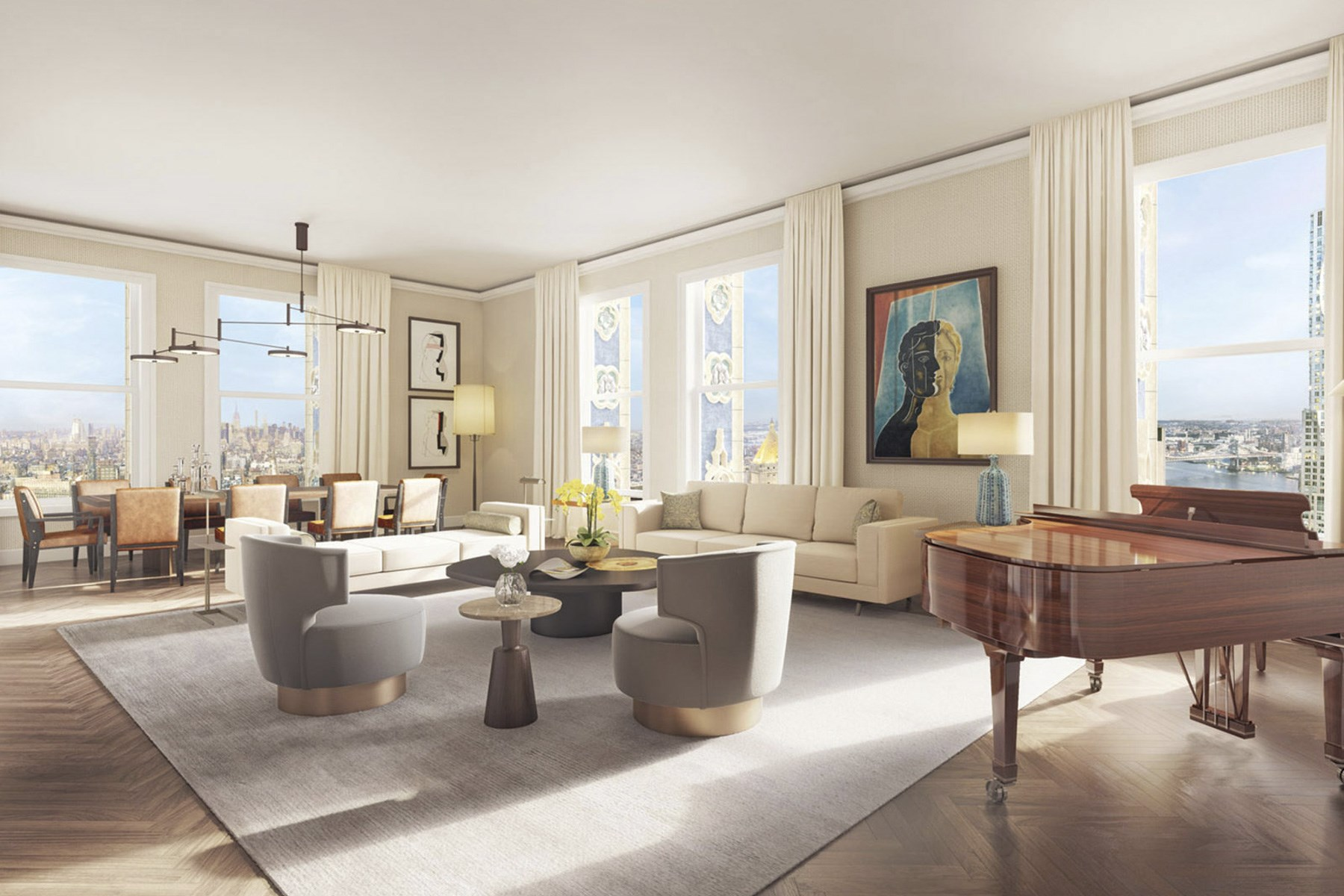Appartement en copropriété pour l Vente à The Woolworth Tower Residences - 40AB 2 Park Place Apt 40AB, Tribeca, New York, New York, 10007 États-Unis