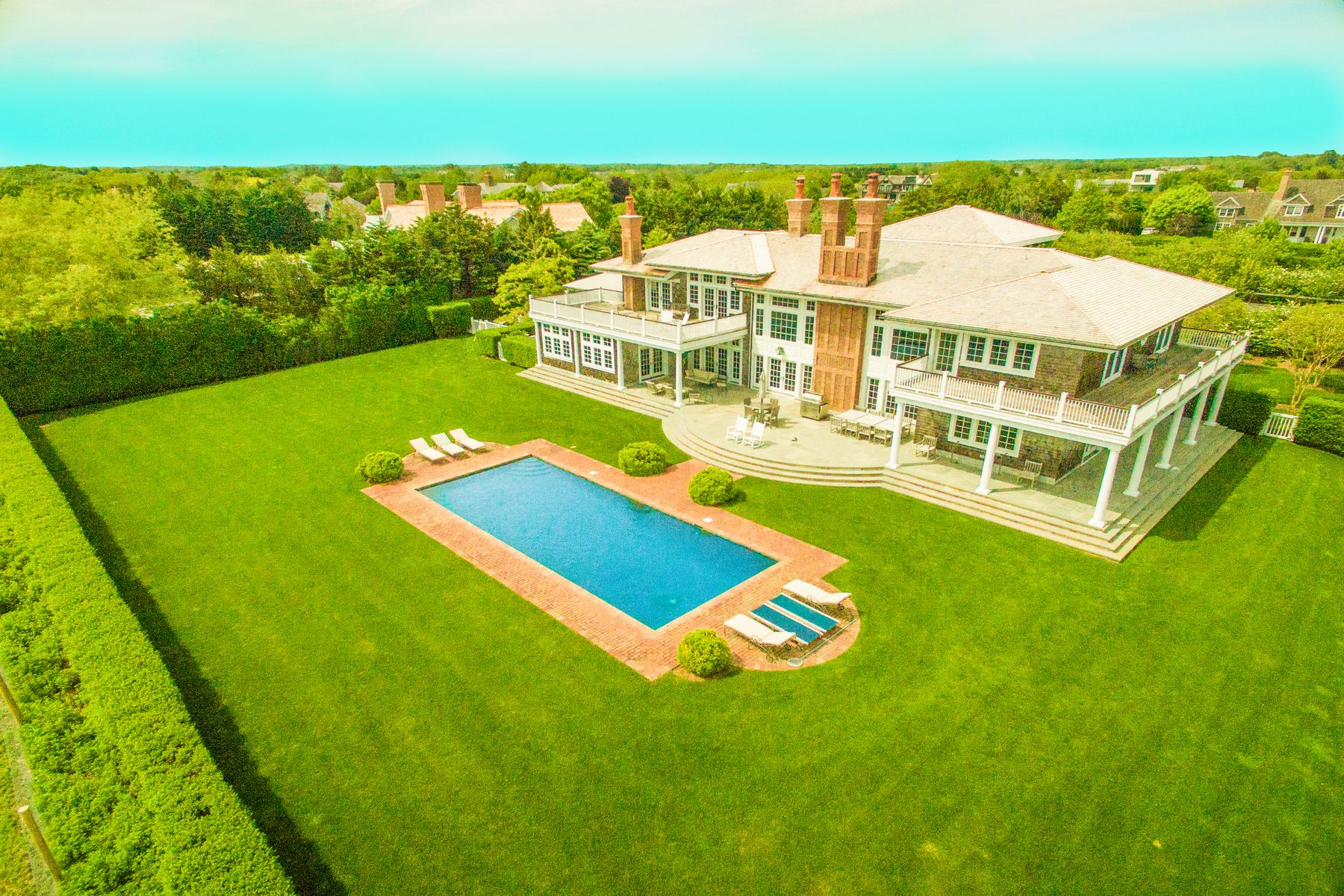 Single Family Home for Sale at SAGAPONACK OCEAN VIEWS WITH TENNIS 19 Sagg Pond Court Sagaponack, New York 11962 United States