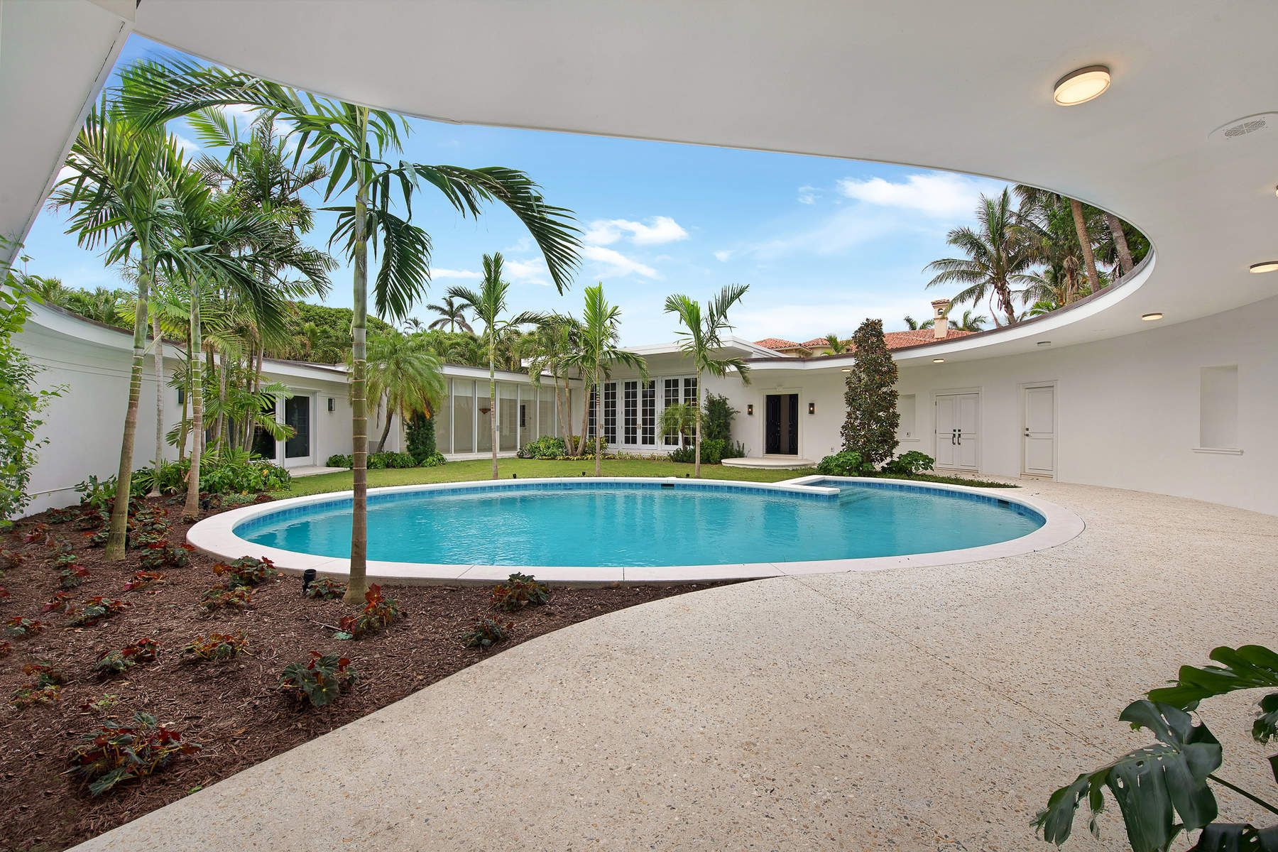 Single Family Home for Sale at Mid Century Modern Courtyard Home 161 Woodbridge Rd Palm Beach, Florida 33480 United States