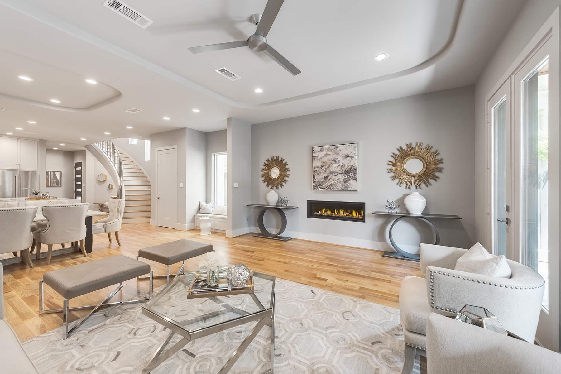 Частный односемейный дом для того Продажа на 219 Malone Street Houston, Техас, 77007 Соединенные Штаты
