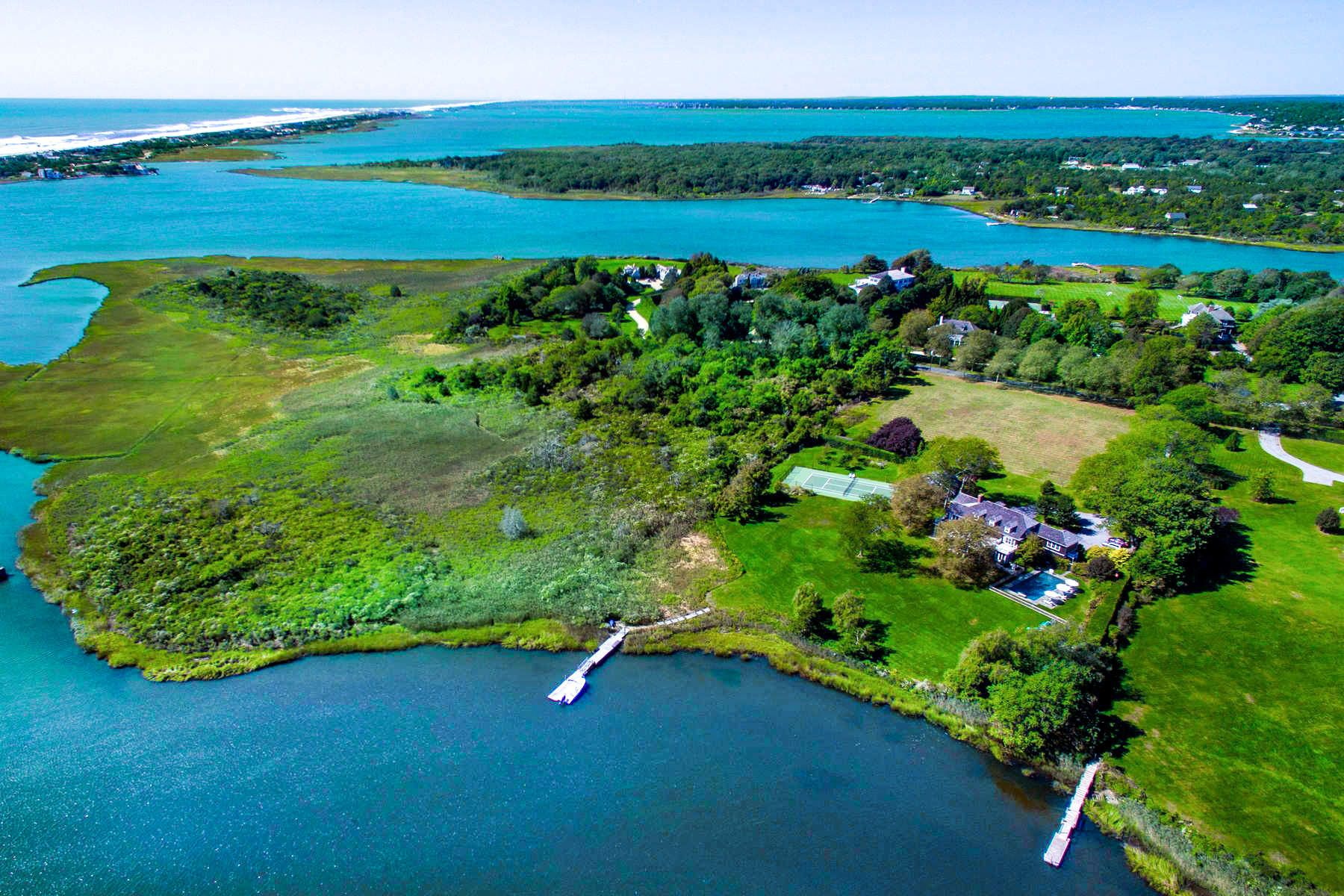 Single Family Home for Sale at Captains Neck Waterfront Estate W/ Dock 550 Captains Neck Lane Southampton, New York 11968 United States