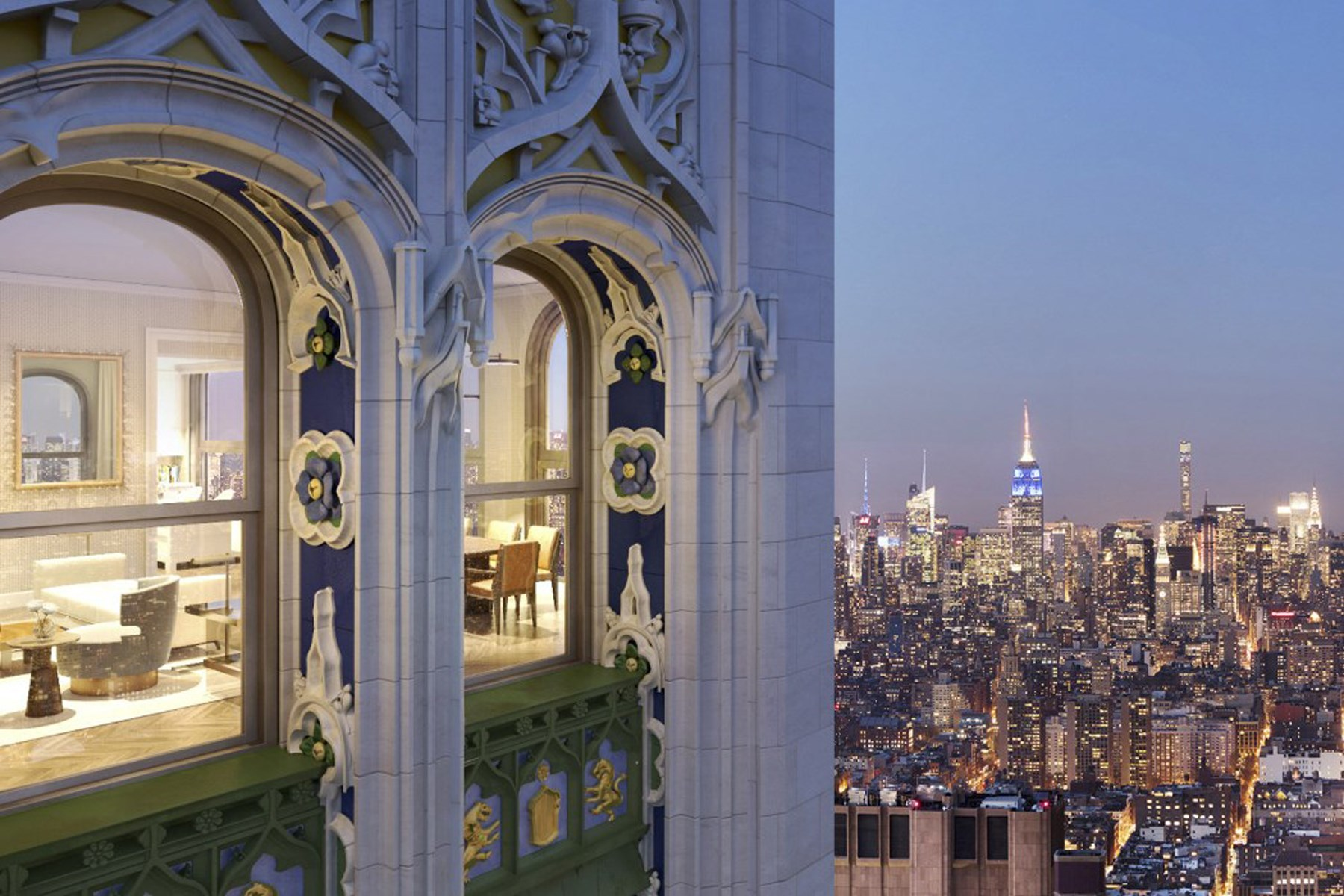 共管物業 為 出售 在 The Woolworth Tower Residences - 35B 2 Park Place Apt 35B Tribeca, New York, 紐約州, 10007 美國