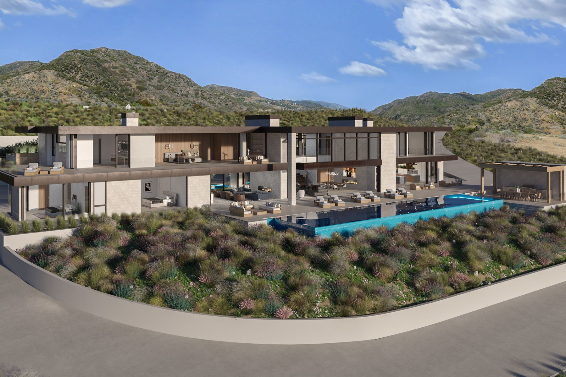 Single Family Homes por un Venta en Malibu's Finest Modern Home 3093 Sweetwater Mesa Road Malibu, California 90265 Estados Unidos