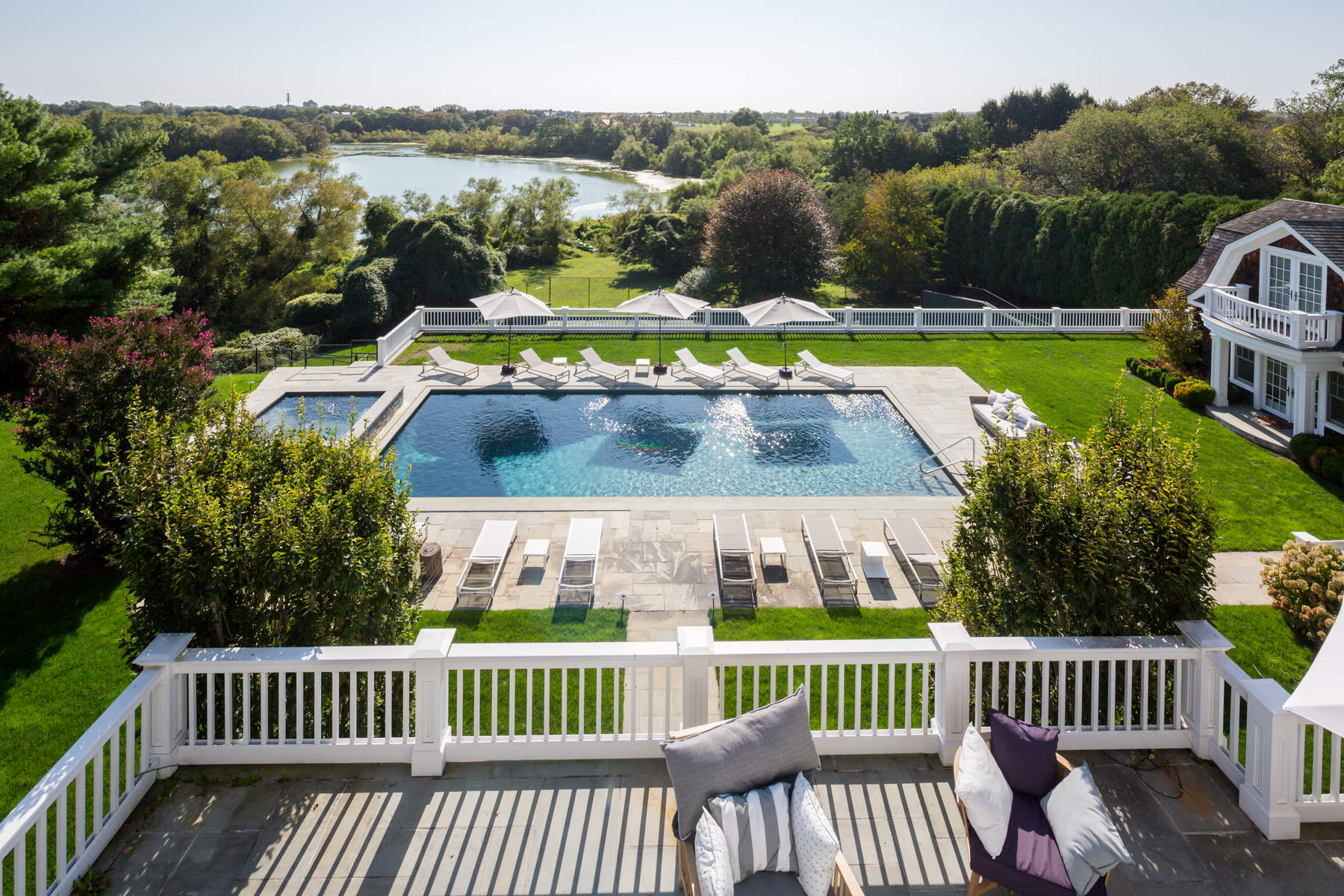 Additional photo for property listing at Luxurious Pondfront with Tennis  Bridgehampton, New York 11932 United States