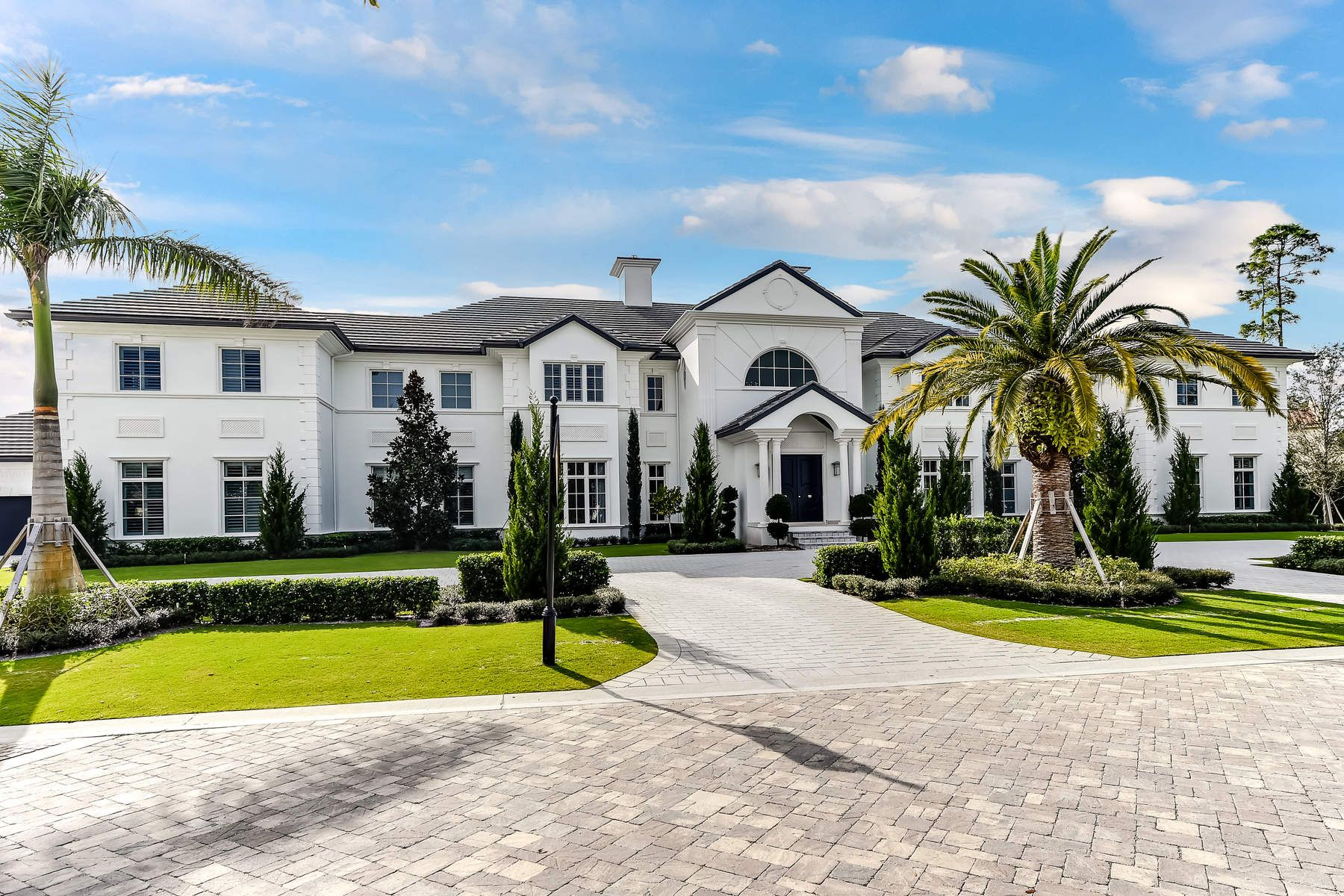 Single Family Home for Sale at New Custom Estate in Old Palm 12403 Hautree Ct, Palm Beach Gardens, Florida, 33418 United States