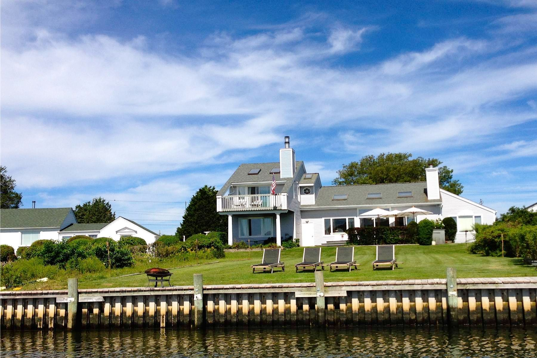 Single Family Home for Rent at Waterfront Contemporary 28 Old Fort Ln Southampton, New York 11968 United States