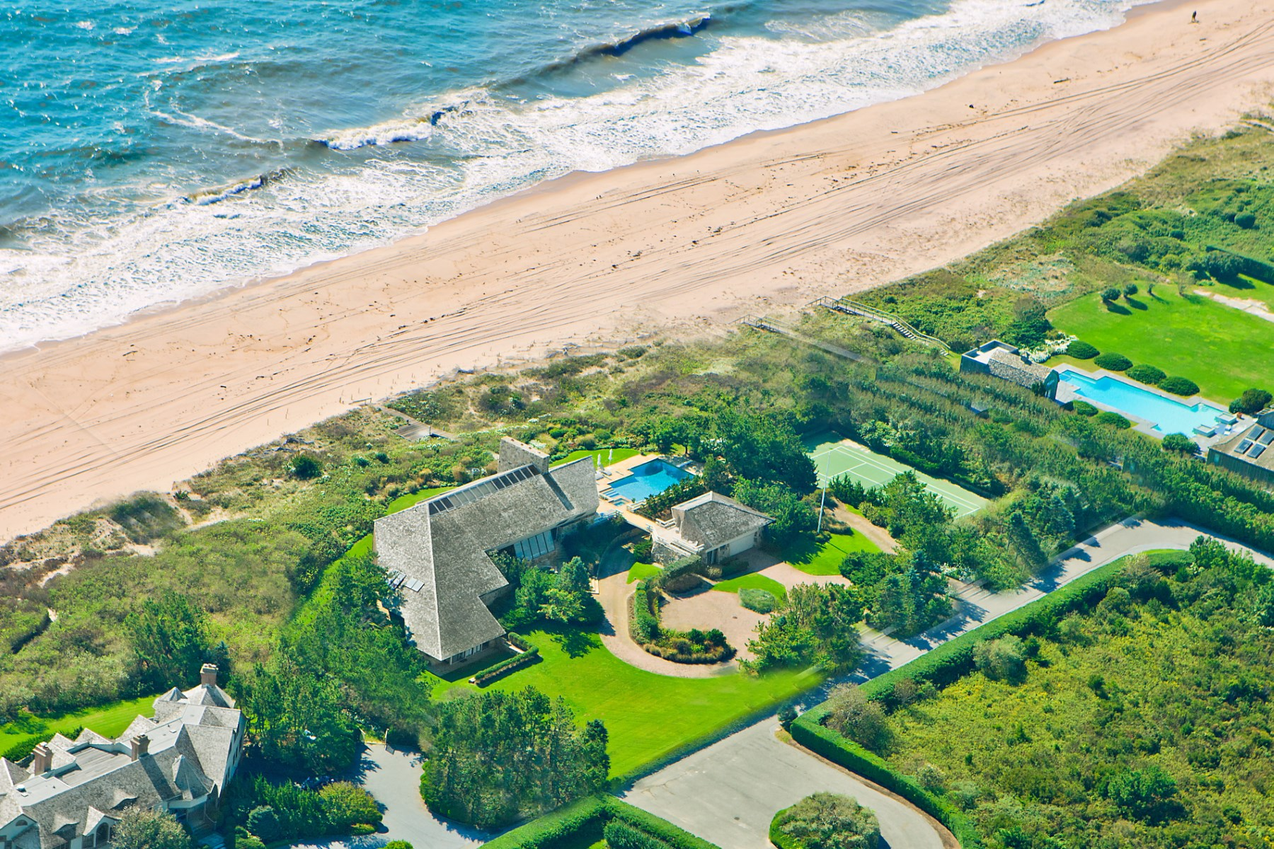 Single Family Home for Rent at Norman Jaffe Oceanfront Modern Southampton, New York 11968 United States