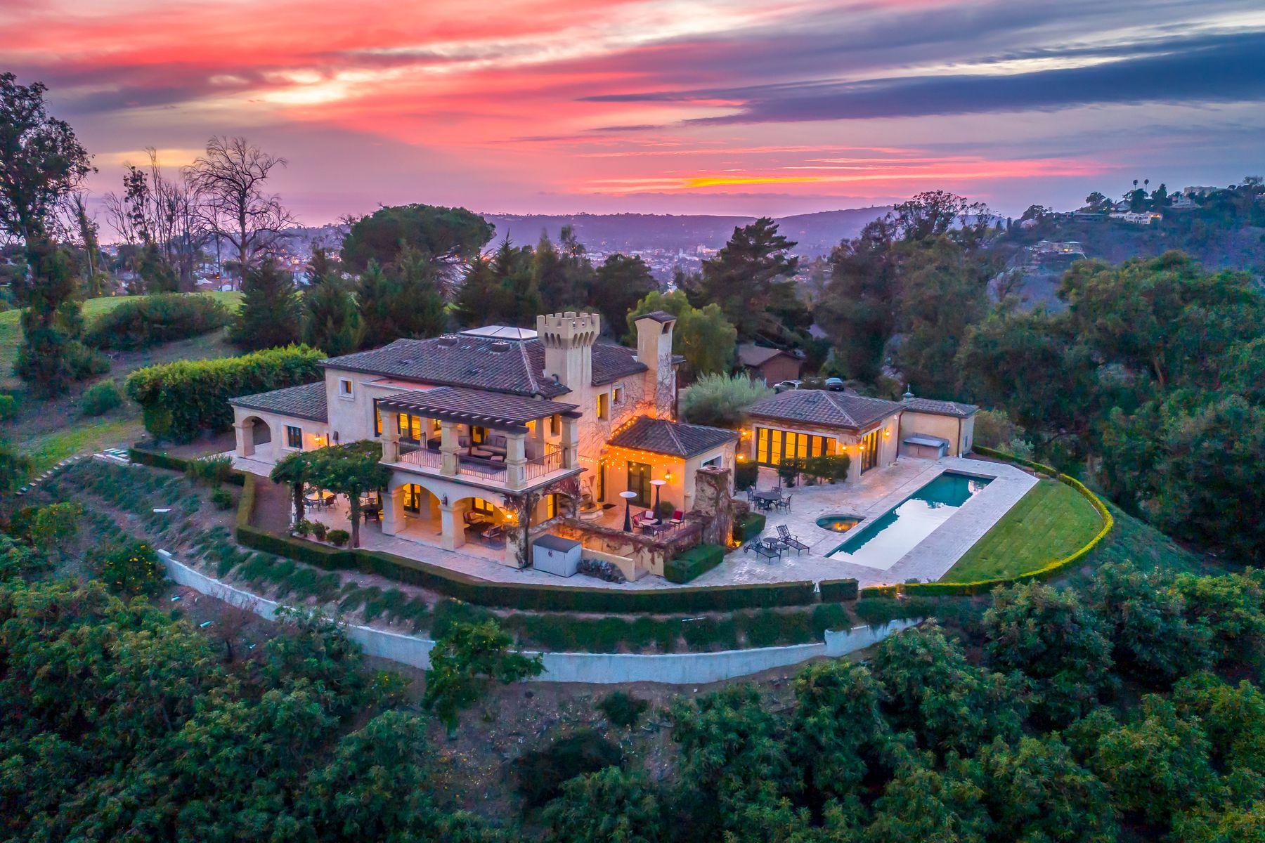 Single Family Homes for Sale at Tuscan Inspired Montecito Estate 117 Crestview Ln Santa Barbara, California 93108 United States