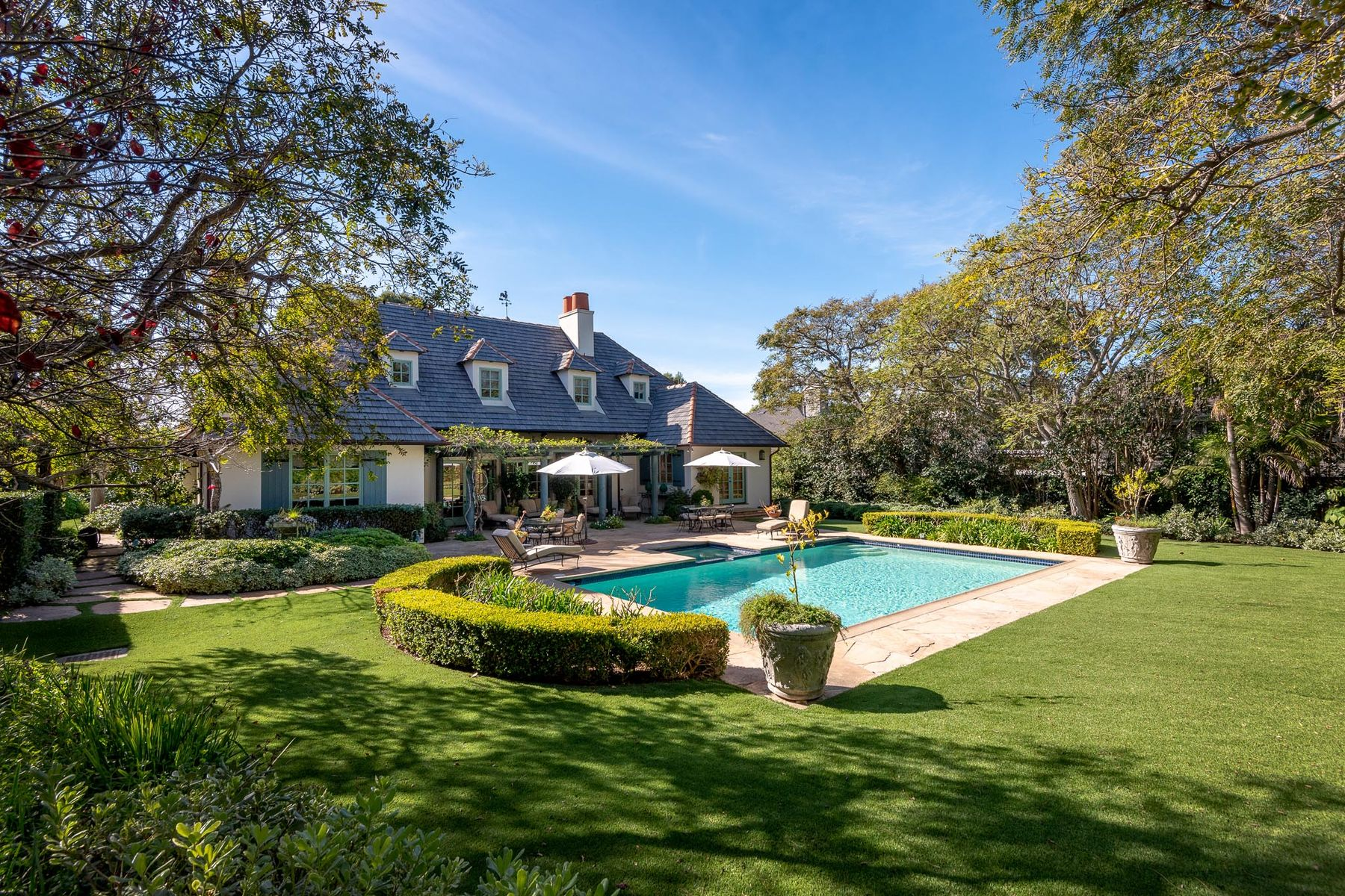 Single Family Homes for Sale at French Country Estate, Butterfly Beach 1164 Hill Rd Montecito, California 93108 United States