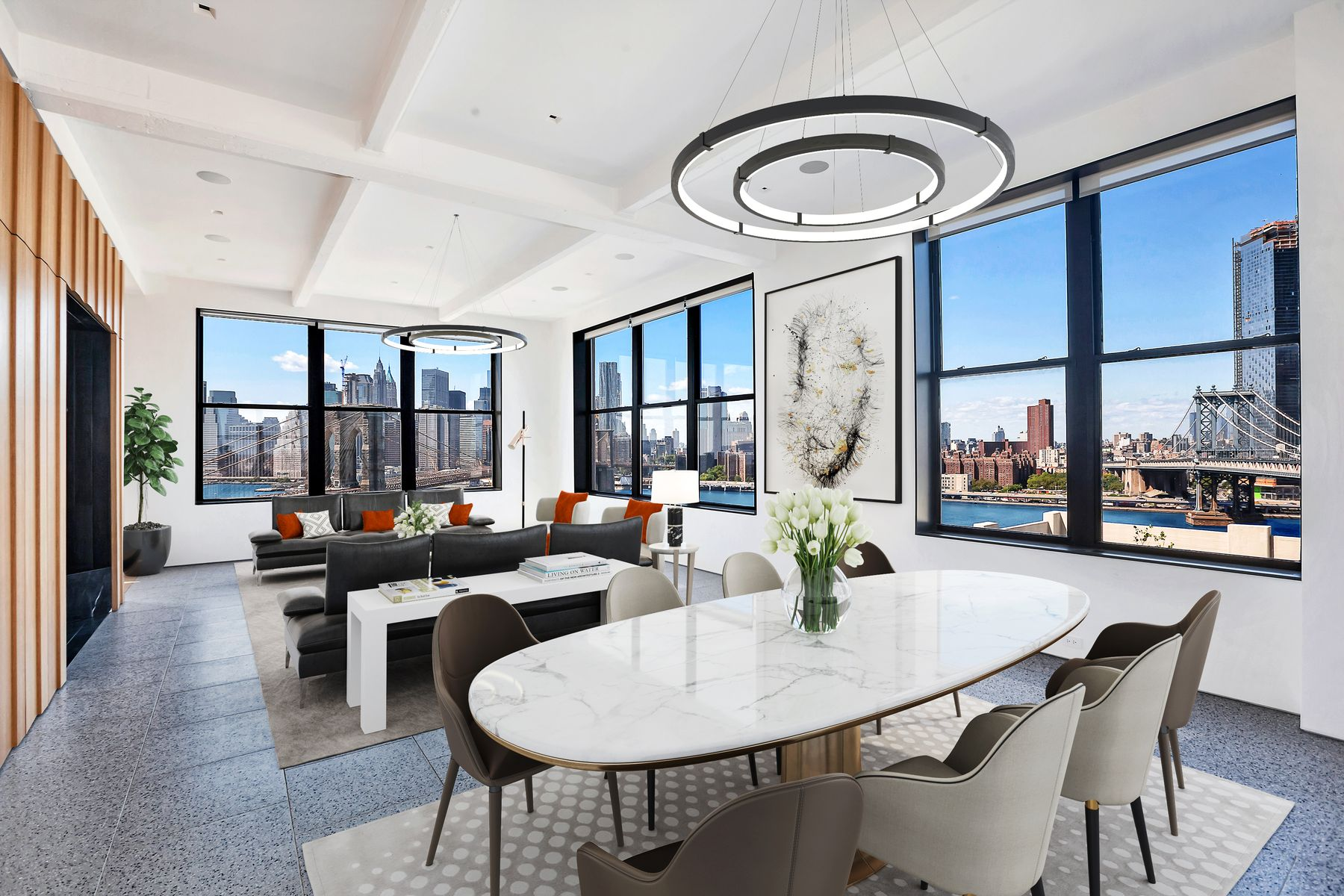 Condominium for Sale at The Penthouse at 1 Main 1 Main Street PH Brooklyn, New York 11201 United States