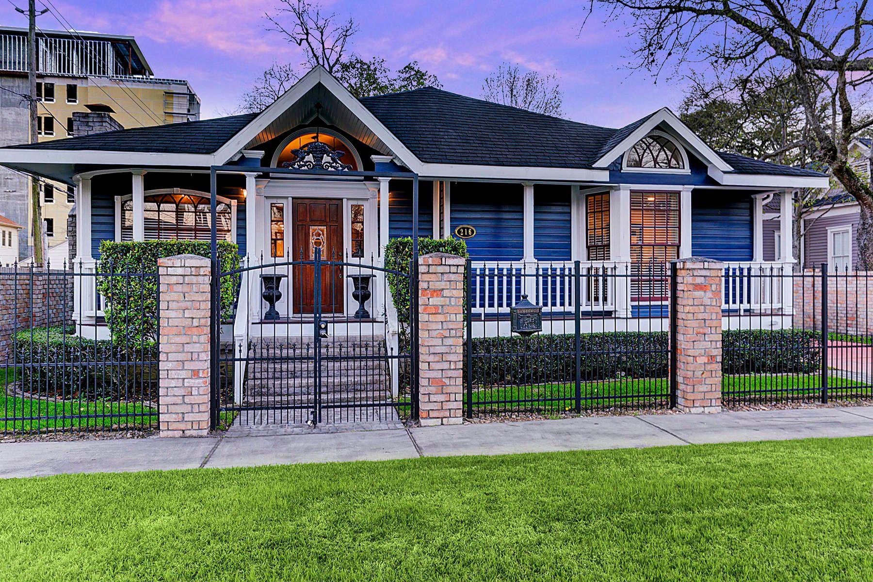 Частный односемейный дом для того Продажа на 216 West 9th Street Houston, Техас, 77007 Соединенные Штаты