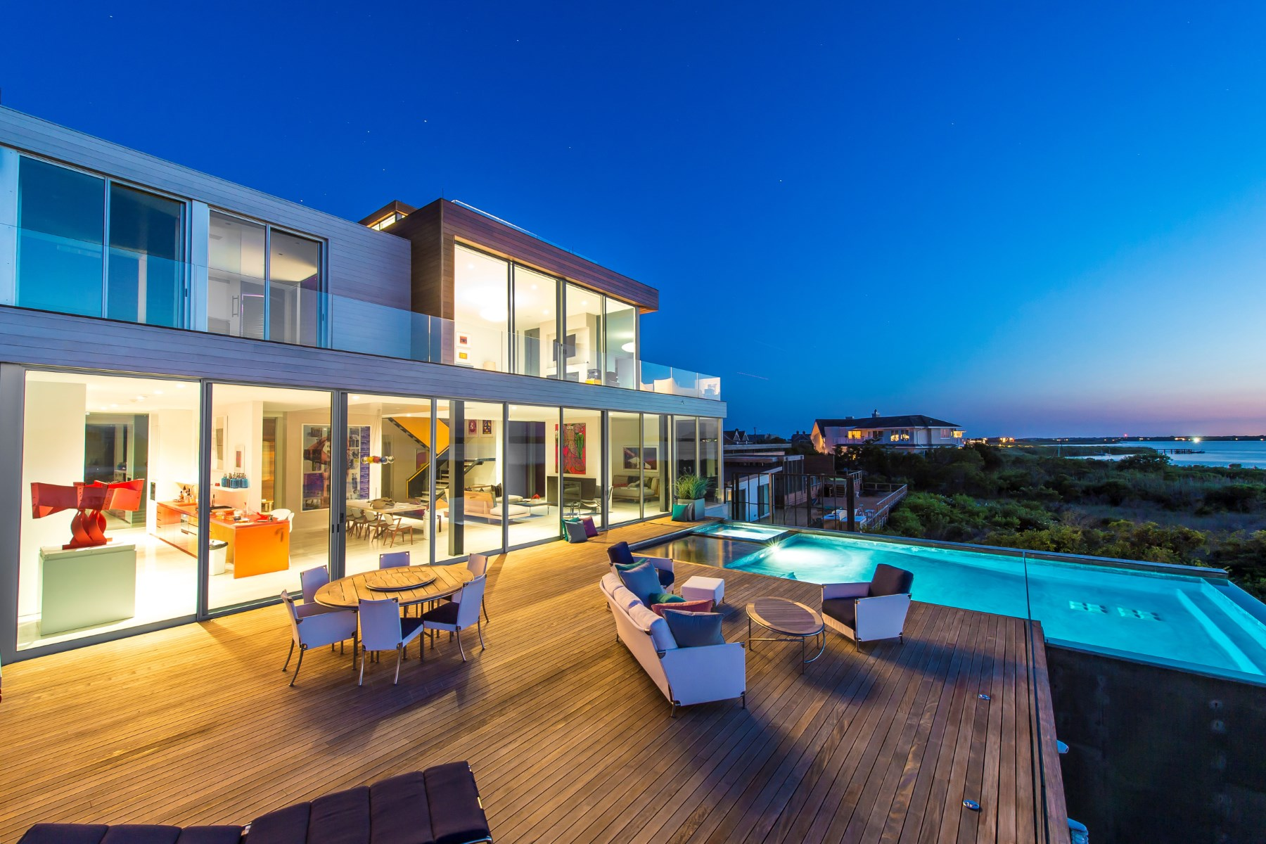 Vivienda unifamiliar por un Venta en Statement New-Build Modern Bay Front 40 Dune Road Bridgehampton South, Bridgehampton, Nueva York, 11932 Estados Unidos