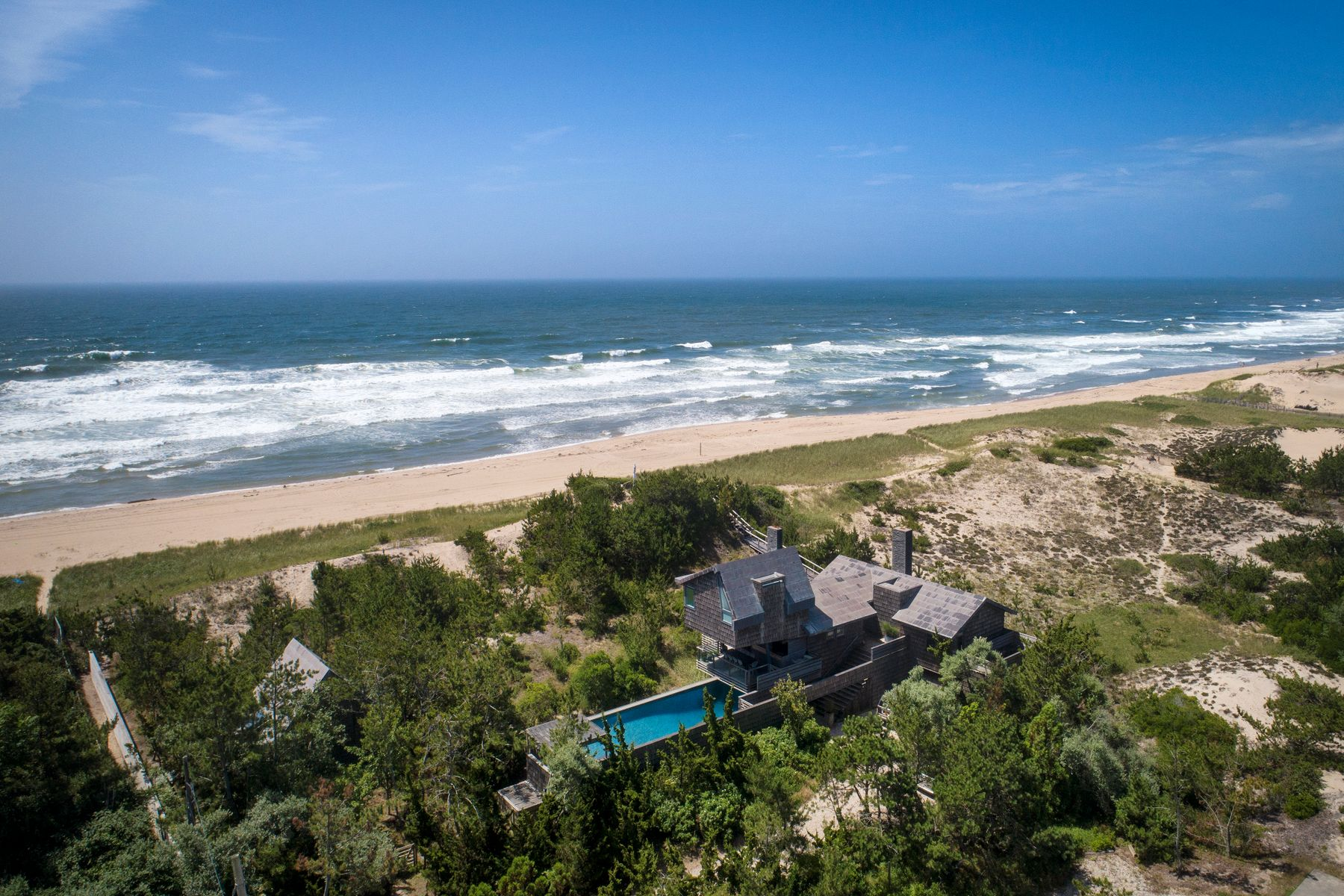 Single Family Homes for Active at Stunning Oceanfront Compound 928 Whalers Lane Amagansett, New York 11930 United States
