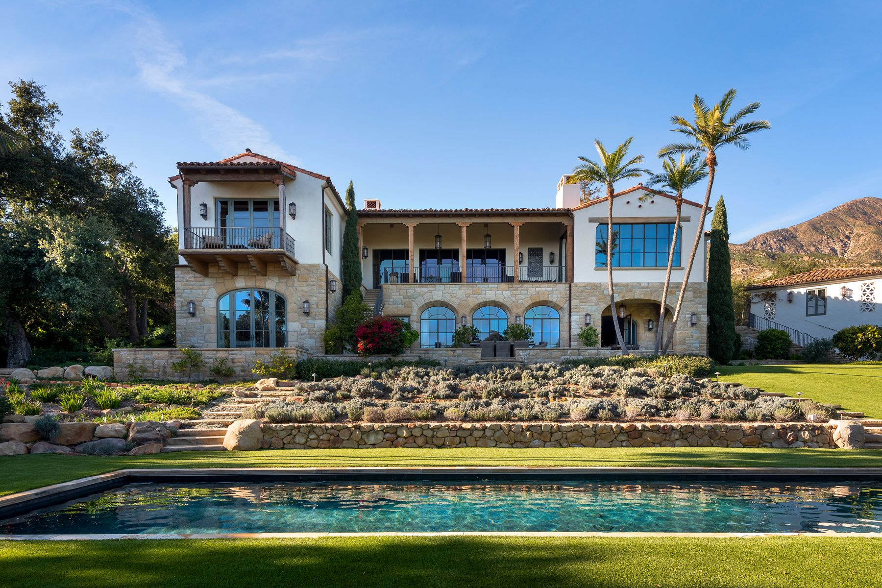 Single Family Homes for Sale at Spanish Colonial Treasure 1333 E Mountain Dr Montecito, California 93108 United States