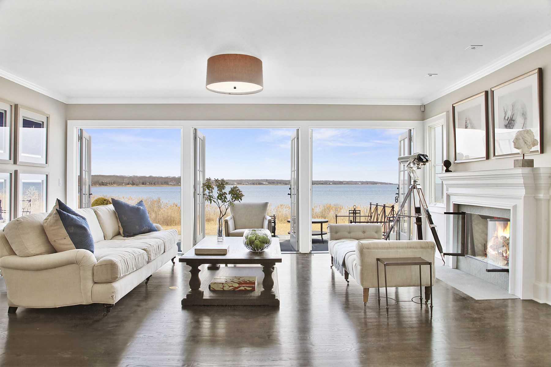 Single Family Home for Rent at Rental On The Harbor, Private Beach 11 Breeze Hill East Hampton, New York 11937 United States