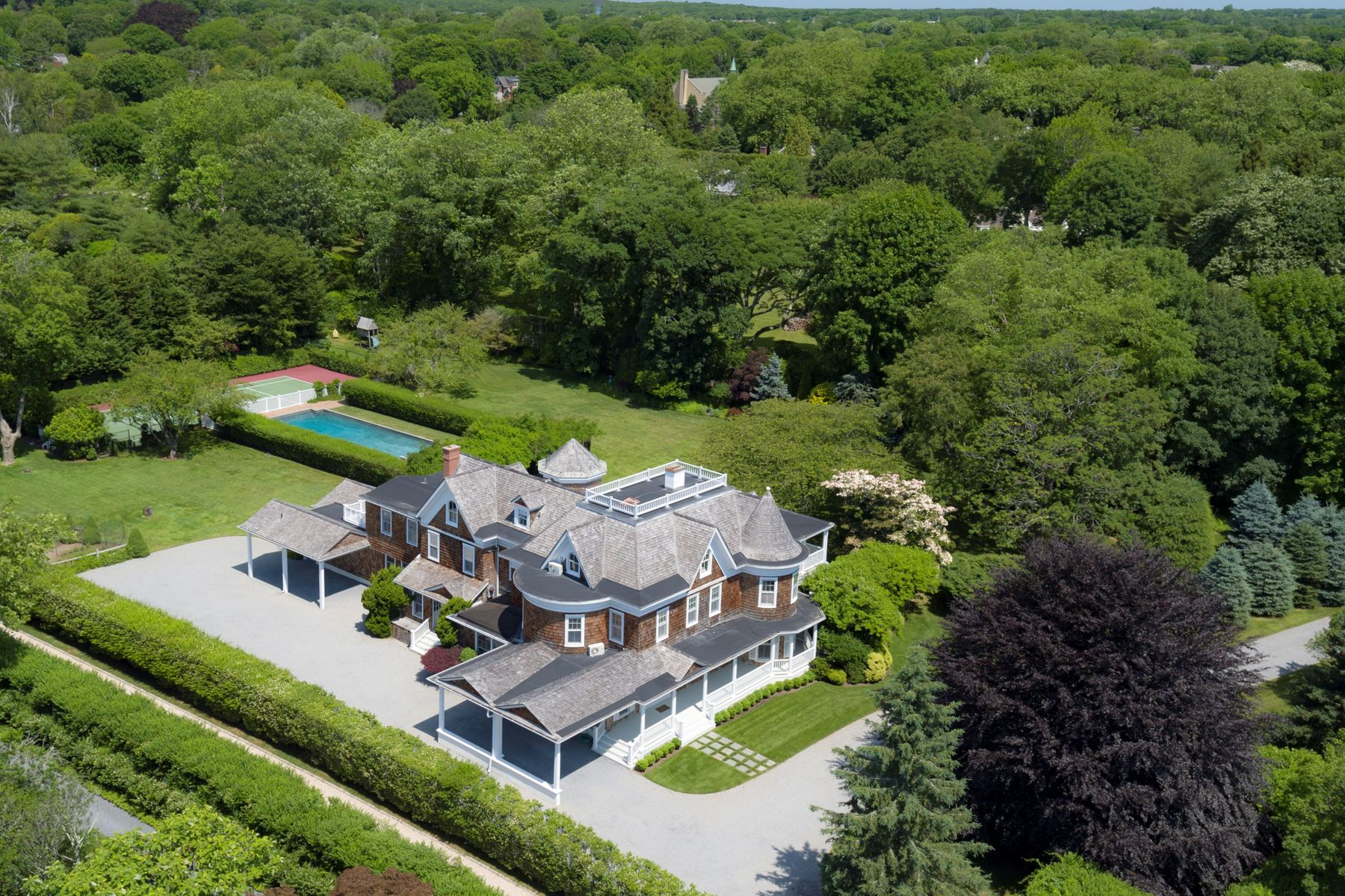 Single Family Home for Sale at Better Than New Southampton Estate 75 First Neck Lane Southampton, New York 11968 United States