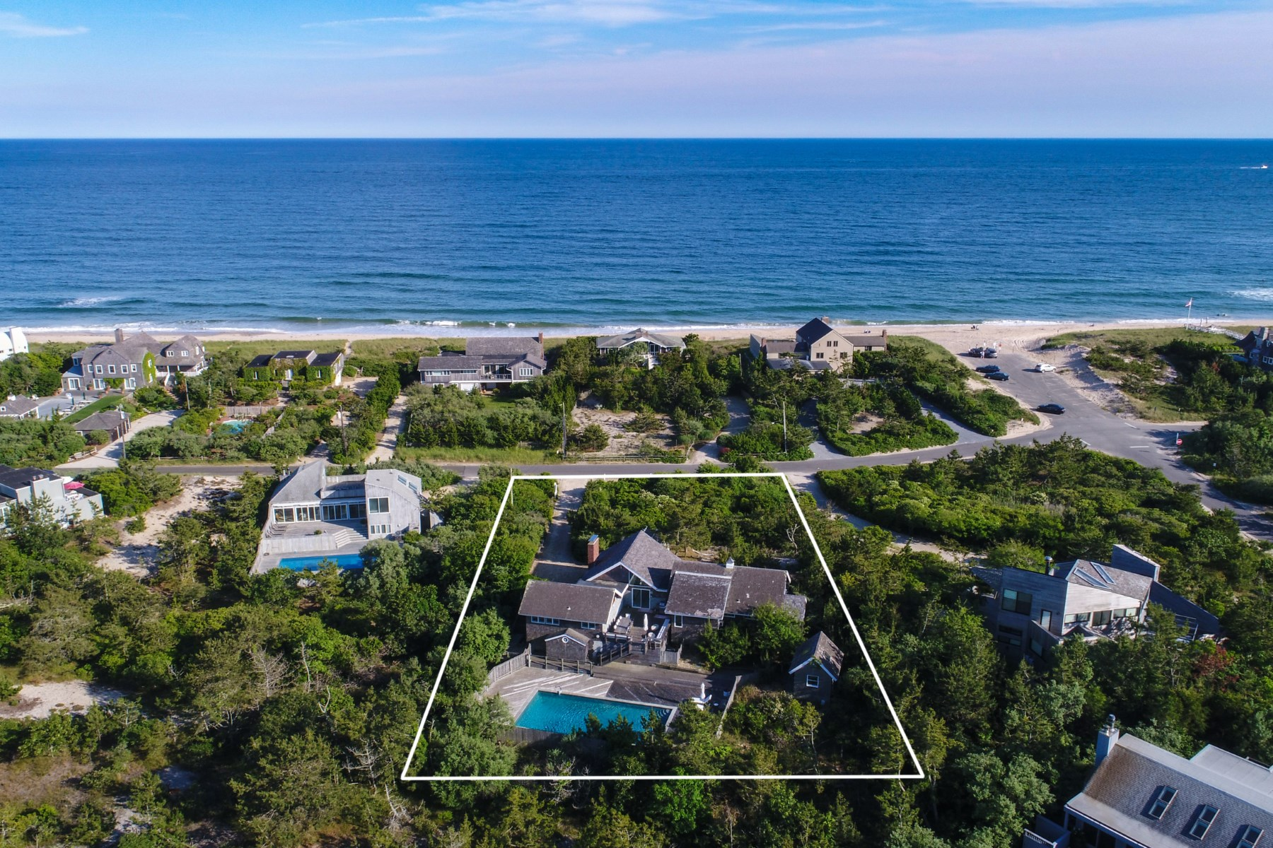 獨棟家庭住宅 為 出售 在 Dunes Beach House Walk To Surf 57 Marine Boulevard Amagansett, 紐約州, 11930 美國