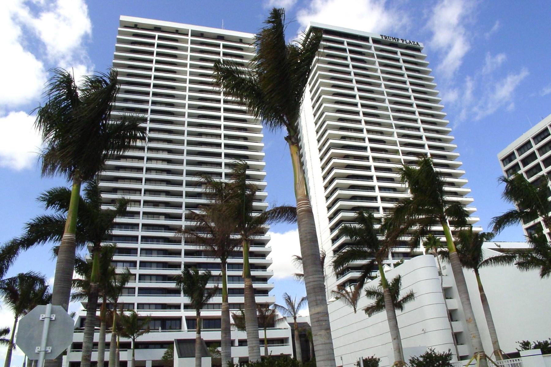 콘도미니엄 용 매매 에 Fully Renovated Trump Plaza Condo 529 S Flagler Drive 19F West Palm Beach, 플로리다, 33401 미국