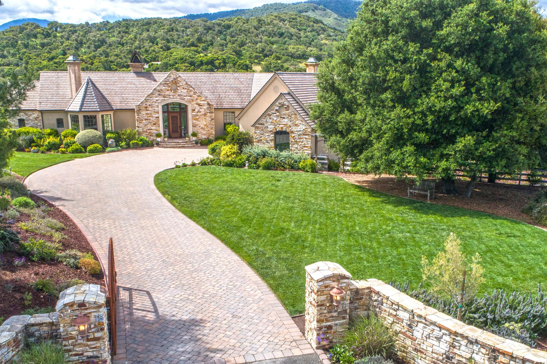 Single Family Homes for Sale at ELEGANT SANCTUARY IN THE VALLEY 75 E Carmel Valley Road Carmel Valley, California 93924 United States