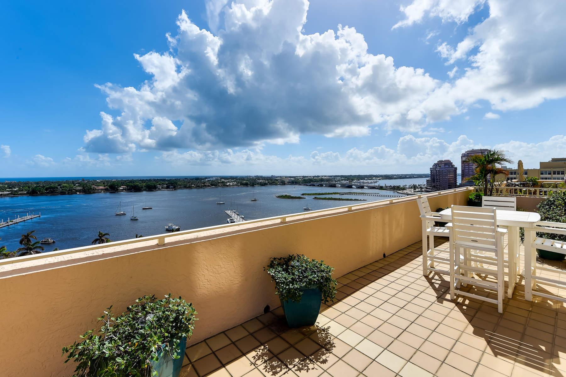 Copropriété pour l Vente à Amazing Outdoor Living and Views 255 Evernia Street 1104, West Palm Beach, Florida, 33401 États-Unis