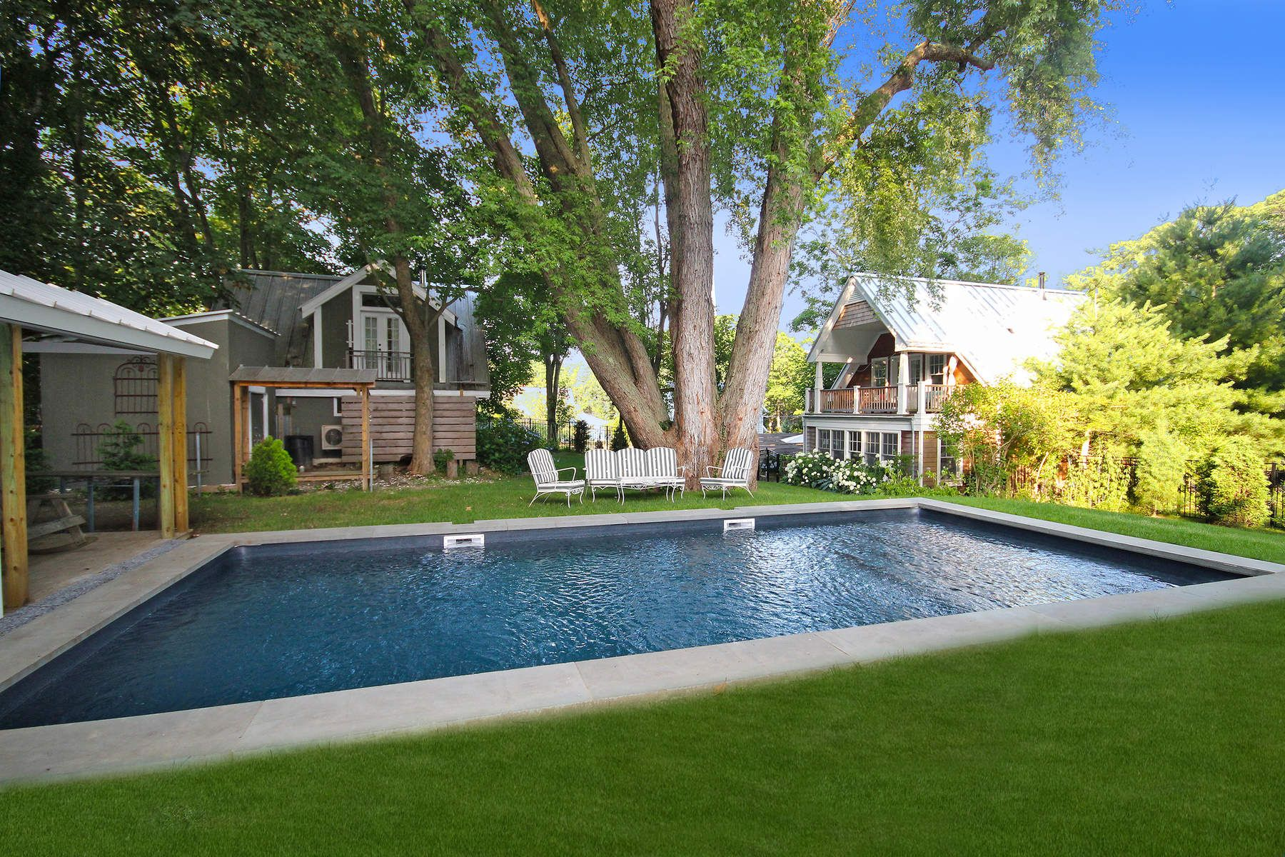 Single Family Home for Rent at Sag Harbor Compound with Pool 51 Harrison Street Sag Harbor, New York 11963 United States