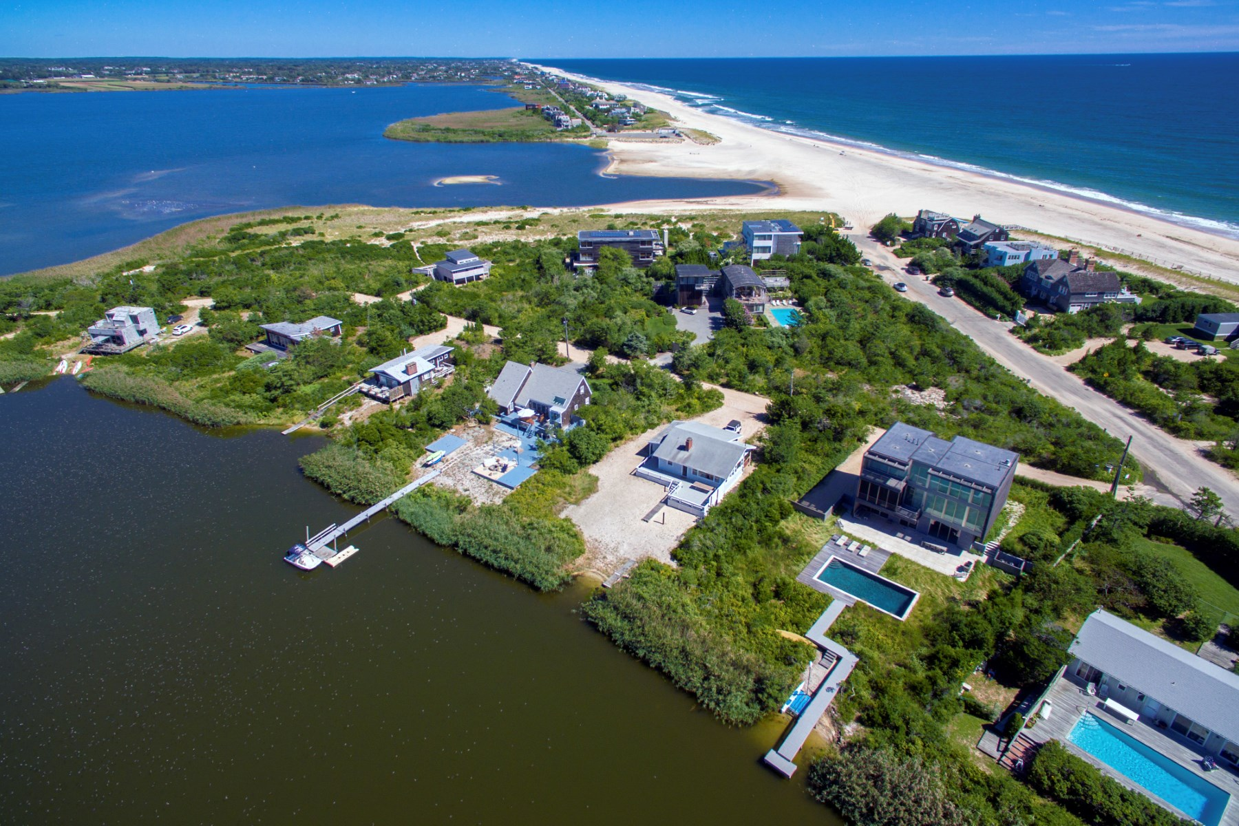 Single Family Home for Sale at Bayfront Beach Bungalow on Flying Point 9 Burnetts Cove Water Mill, New York, 11976 United States