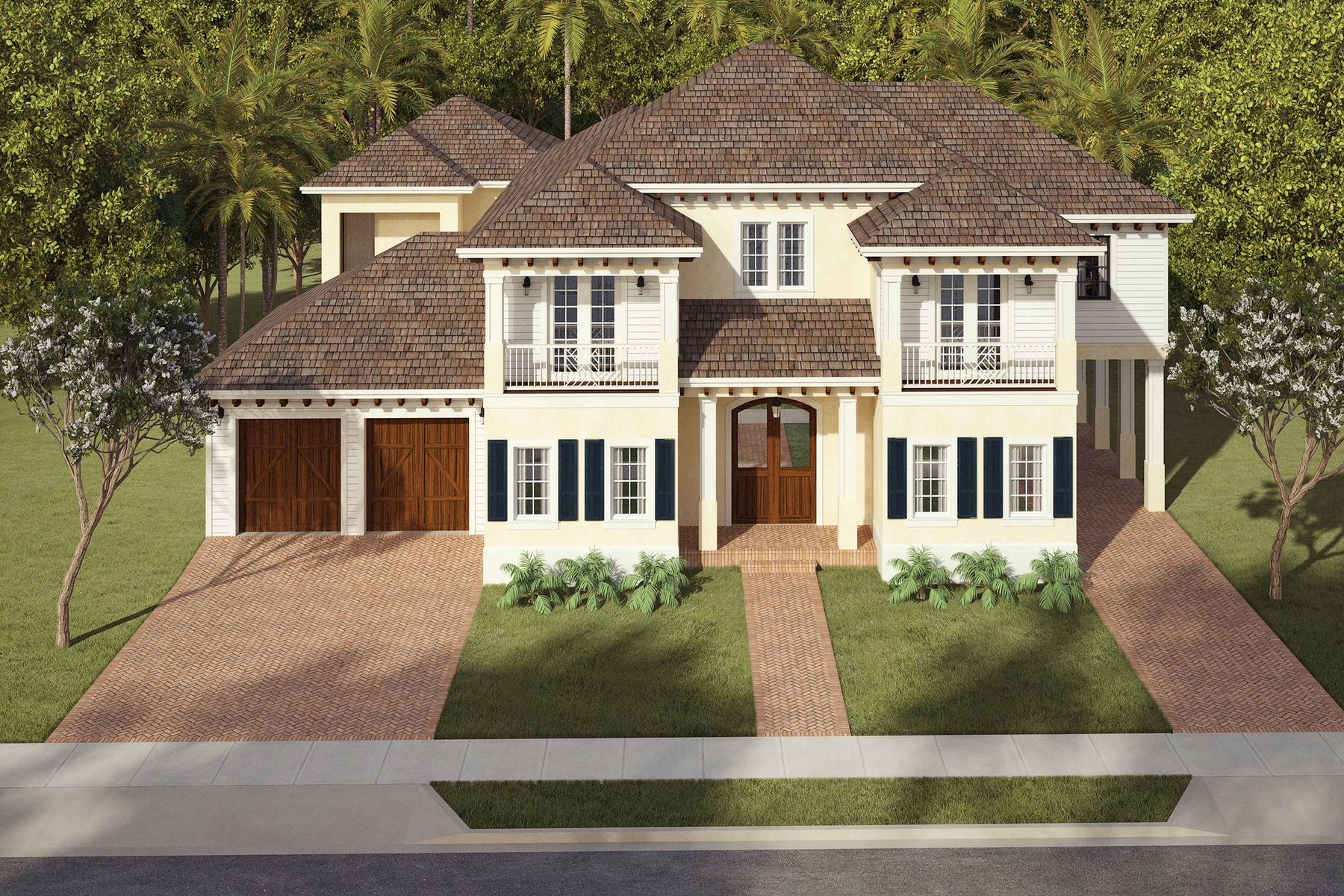 Single Family Home for Active at New Residentual Construction 127 Potter Rd West Palm Beach, Florida 33405 United States