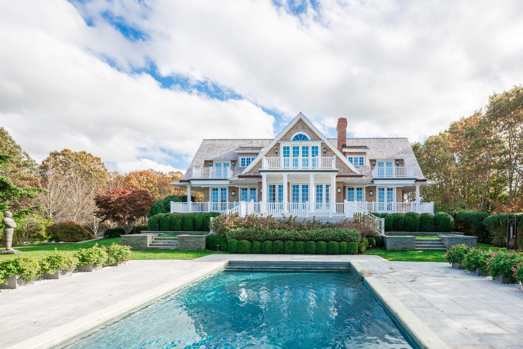 Single Family Home for Rent at TRADITIONAL WITH FOREVER WATER VIEWS Sag Harbor, New York 11963 United States