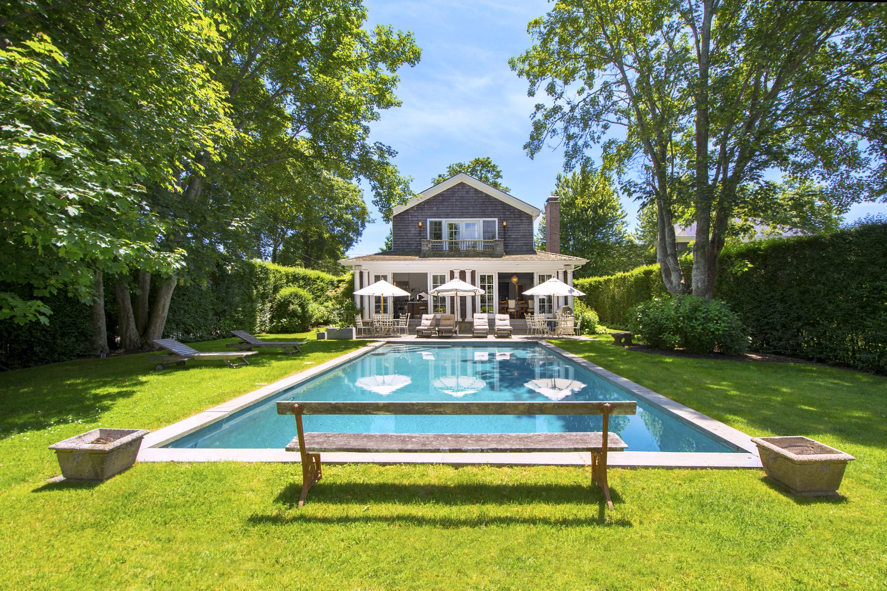 Single Family Home for Sale at Traditional Village Home with Pool 97 Pelletreau Street Southampton, New York, 11968 United States