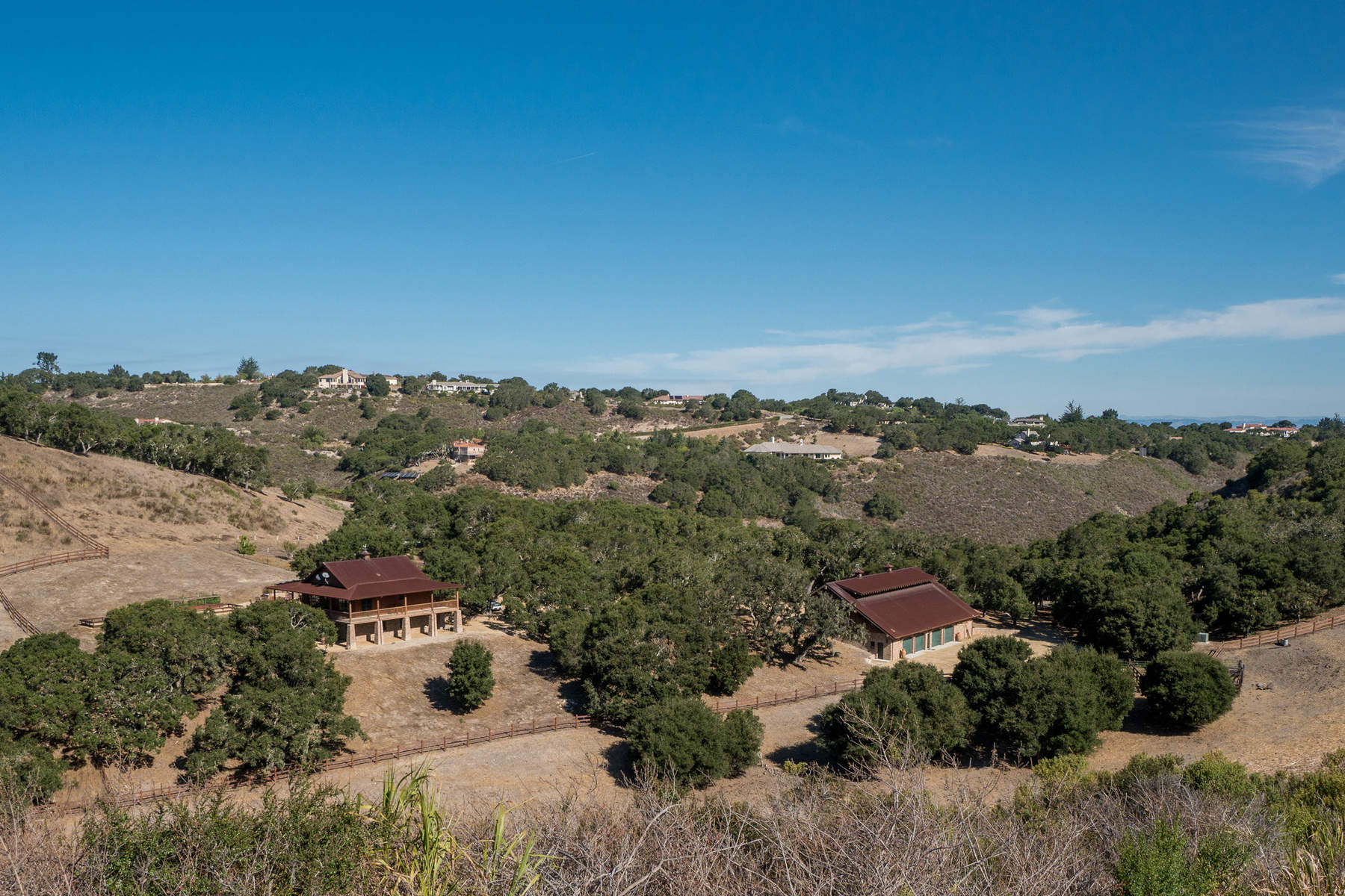 Farm / Ranch / Plantation للـ Sale في Spectacular 129-Acre Ranch Estate 10265 Calle De Robles Carmel Valley, California 93923 United States
