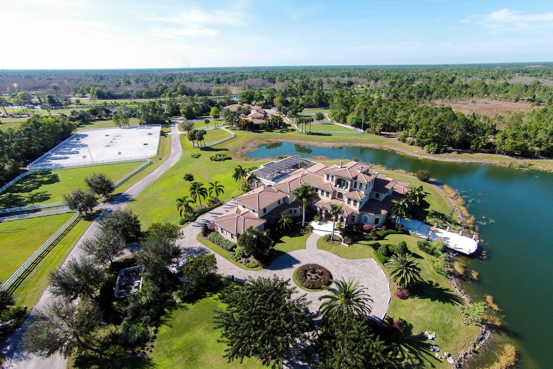 Ferme / Ranch / Plantation pour l Vente à Jupiter Equestrian Estate Jupiter, Florida, 33478 États-Unis