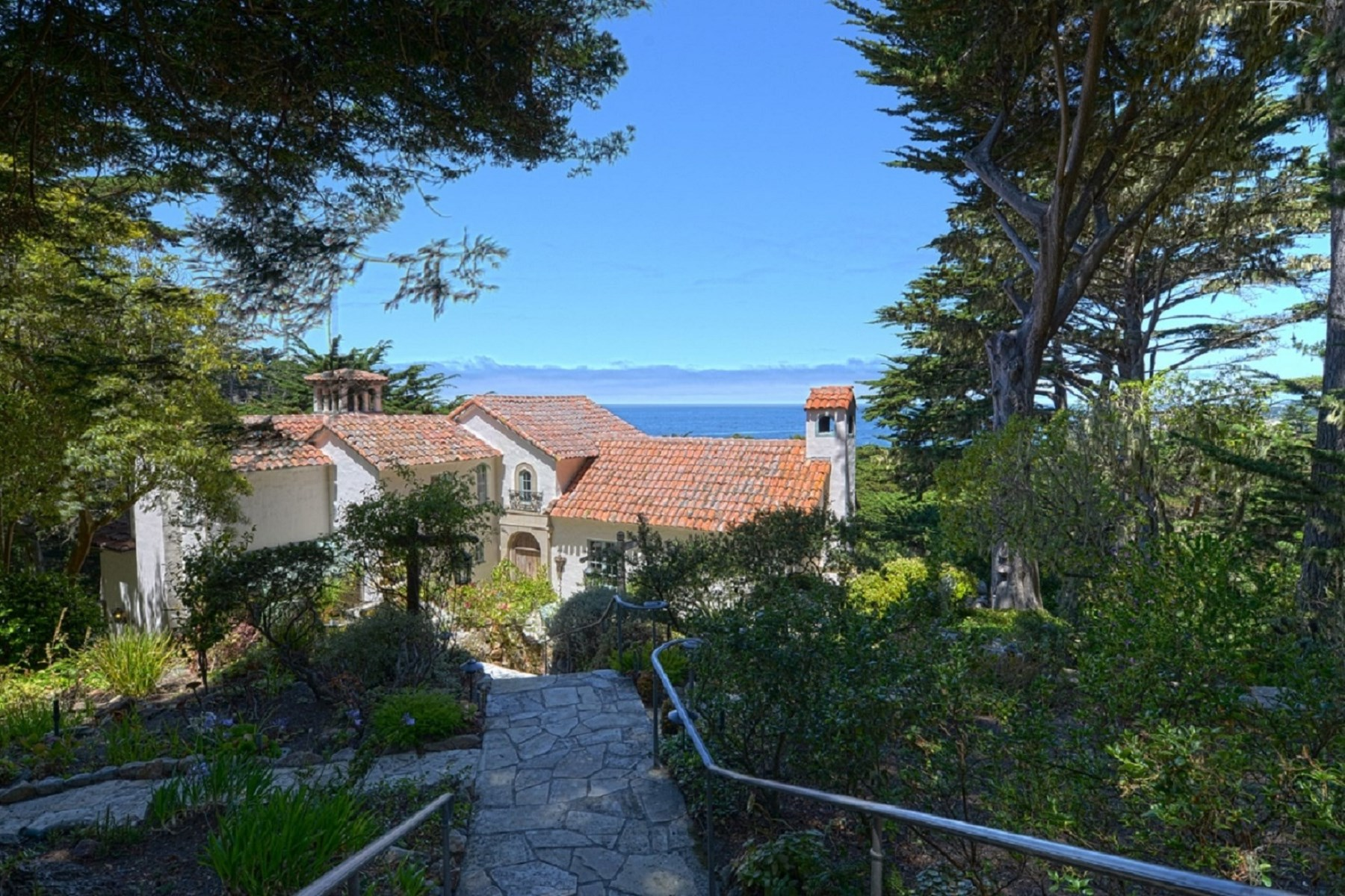 Single Family Home for Sale at Mediterranean Architectural Masterpiece 176 Spindrift Carmel, California 93923 United States