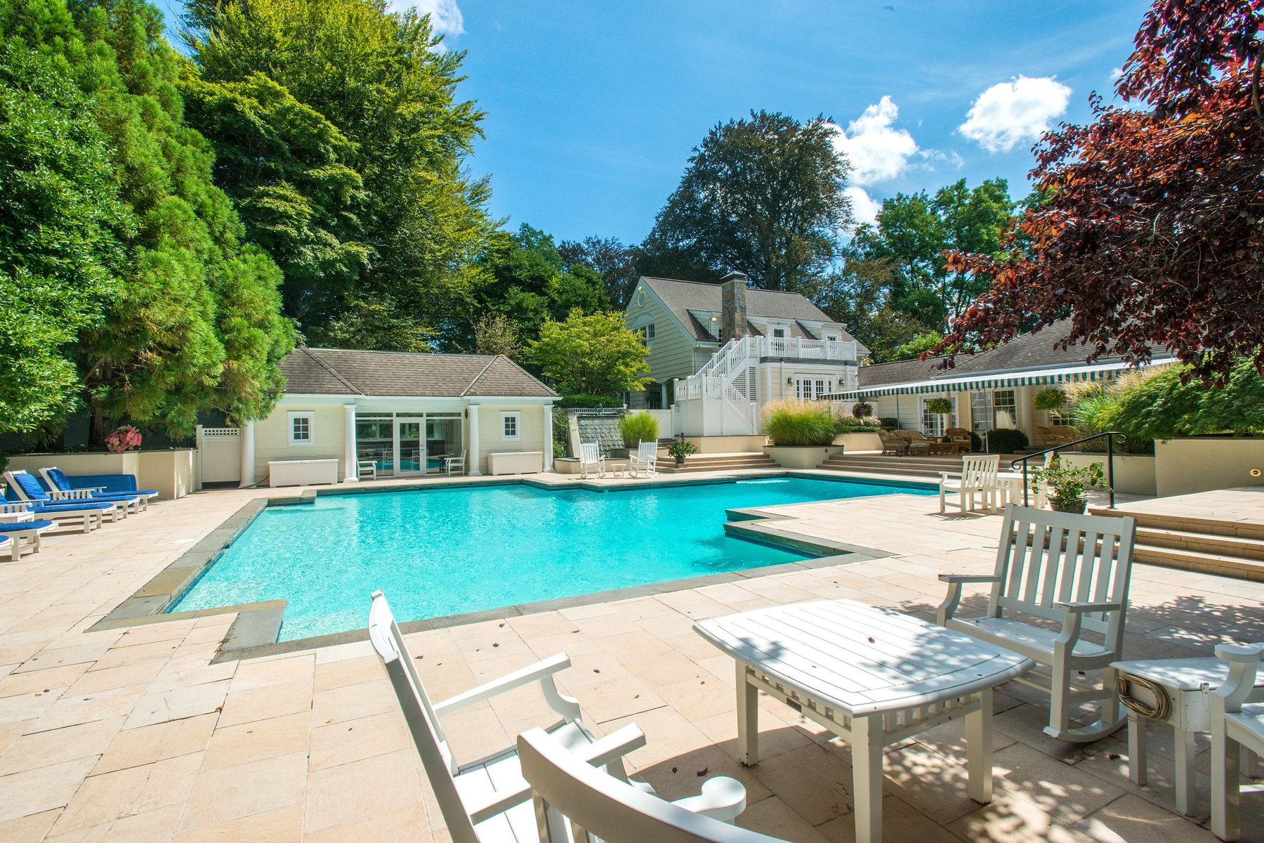 Single Family Homes for Sale at Stunning Country Compound Near Town 1 Winding Lane Greenwich, Connecticut 06831 United States