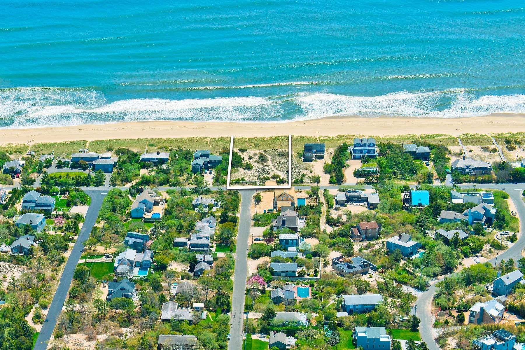 Land for Active at PRIME OCEANFRONT LOT, AMAGANSETT DUNES 161 Marine Blvd Amagansett, New York 11930 United States