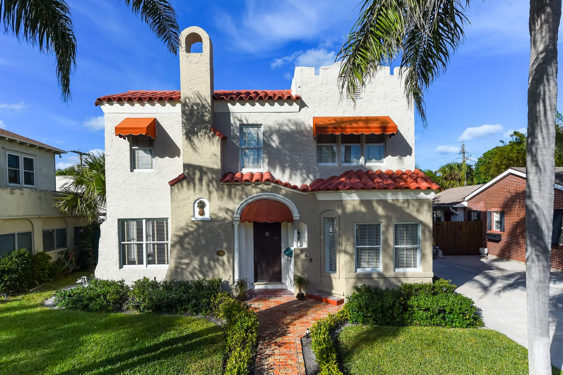 Single Family Home for Sale at Pristine Mediterranean Revival Style 149 Edgewood Dr West Palm Beach, Florida 33405 United States