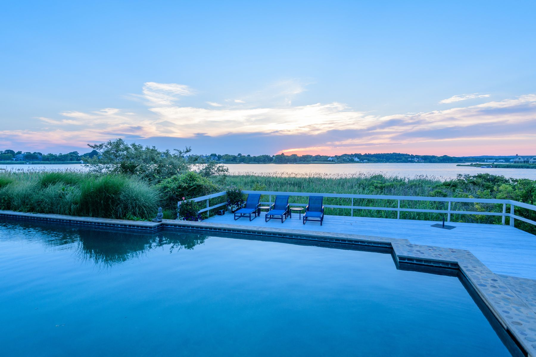 Single Family Homes for Sale at BREATHTAKING WATERFRONT LAND 35 Morrison Lane Water Mill, New York 11976 United States