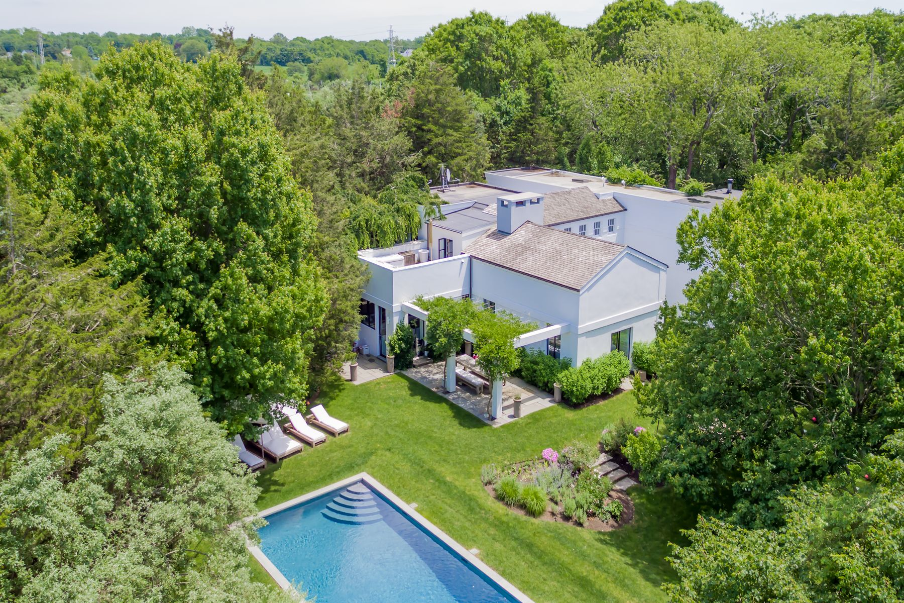 Single Family Home for Active at Sophisticated And Private Stunner 154 Windmill Lane Amagansett, New York 11930 United States