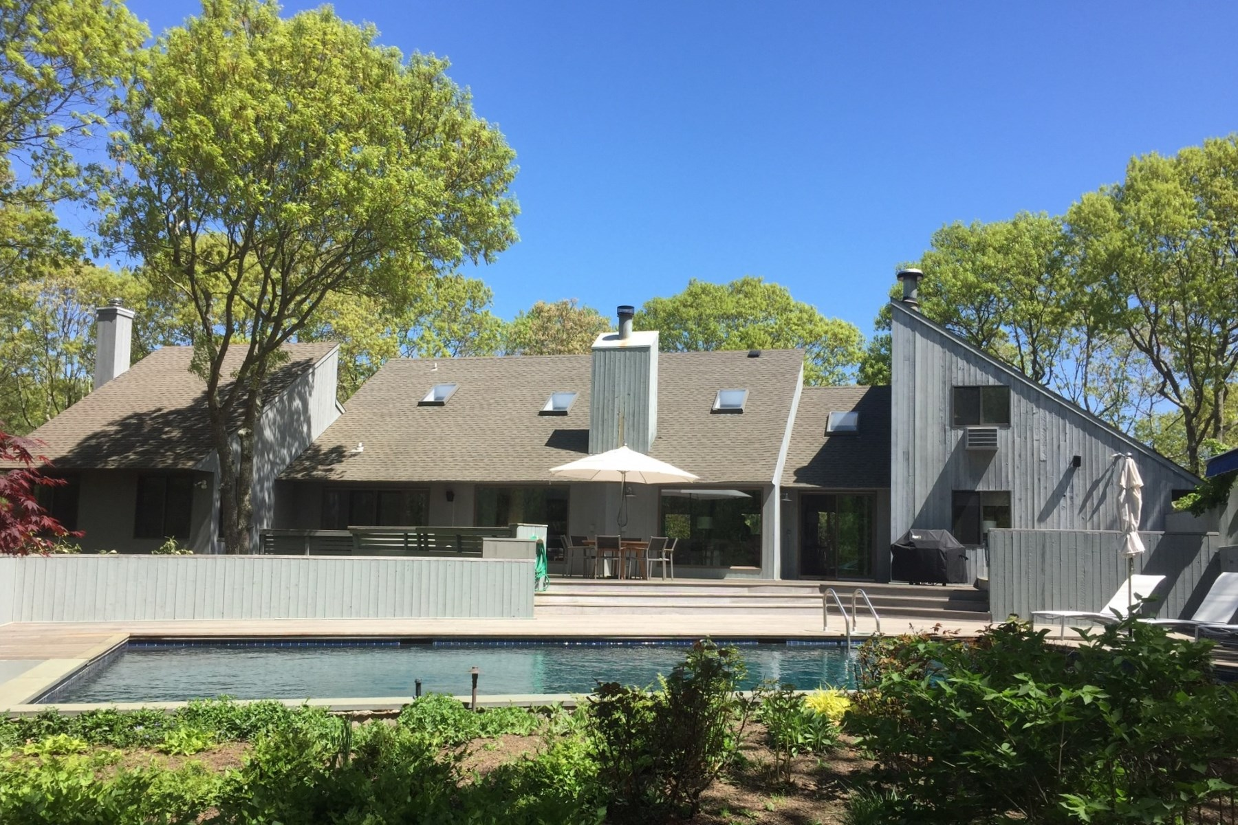 Single Family Home for Rent at Renovated 4 Bedroom Home with Pool 212 Treescape Drive East Hampton, New York 11937 United States
