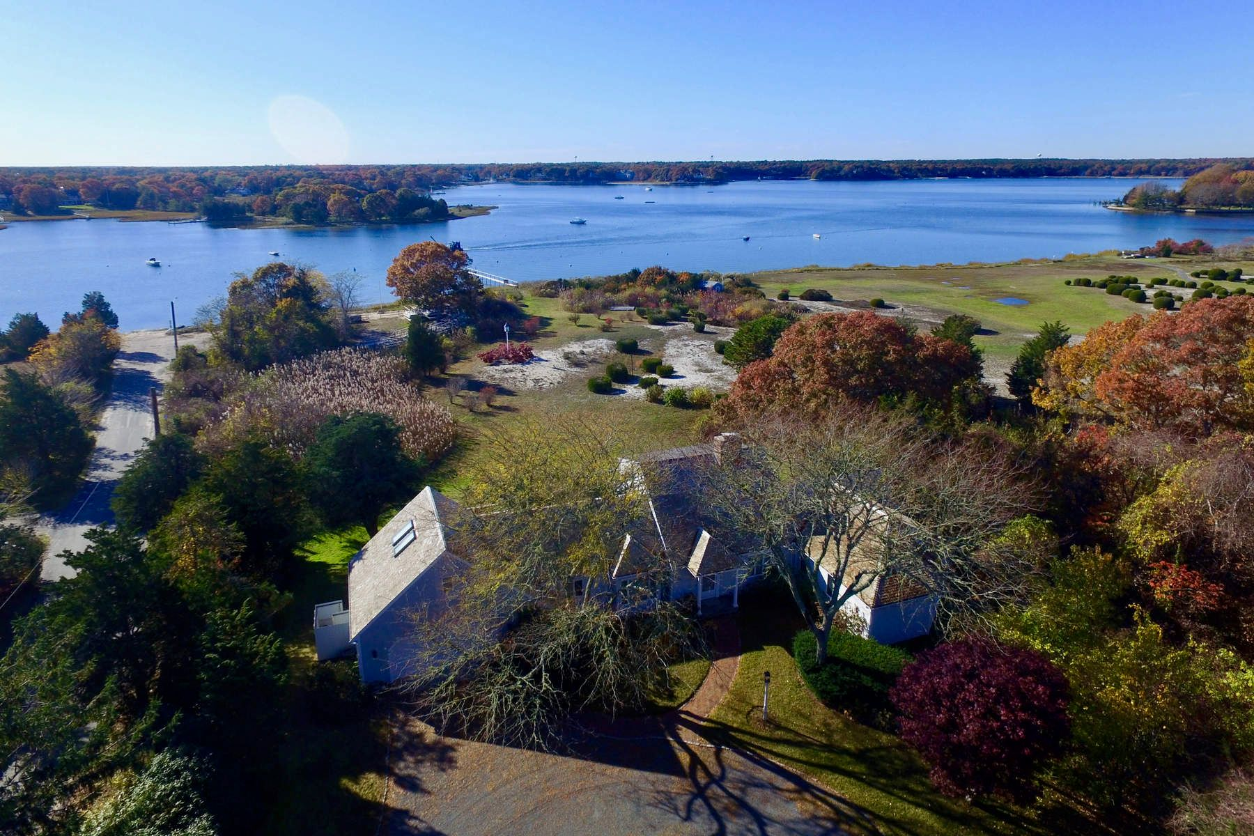 Single Family Home for Sale at Waterfront with Deep Water Dock 220 Bay Street, Osterville, Massachusetts, 02655 United States