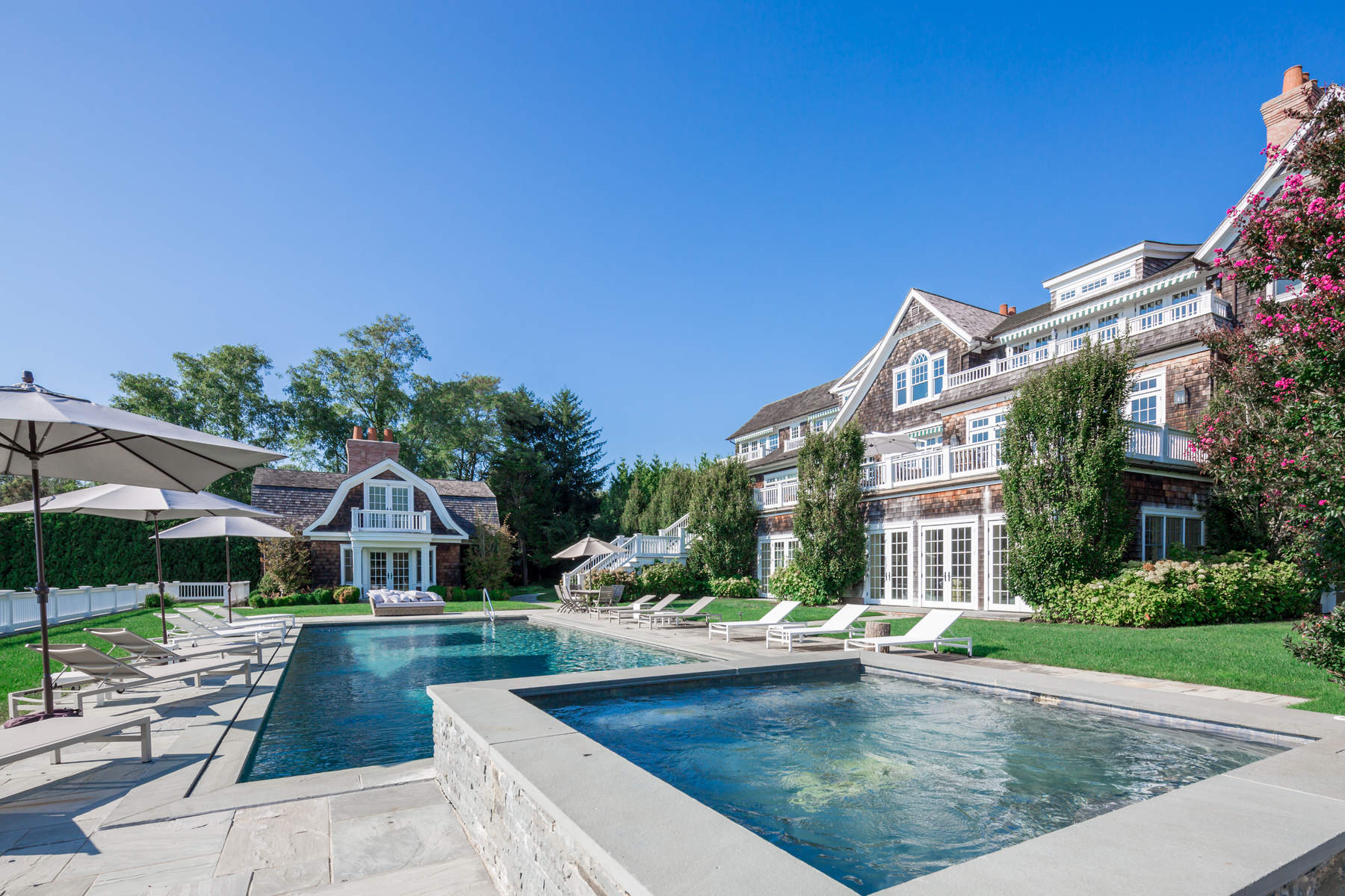 Single Family Home for Rent at Luxurious Pondfront with Tennis Bridgehampton North, Bridgehampton, New York, 11932 United States