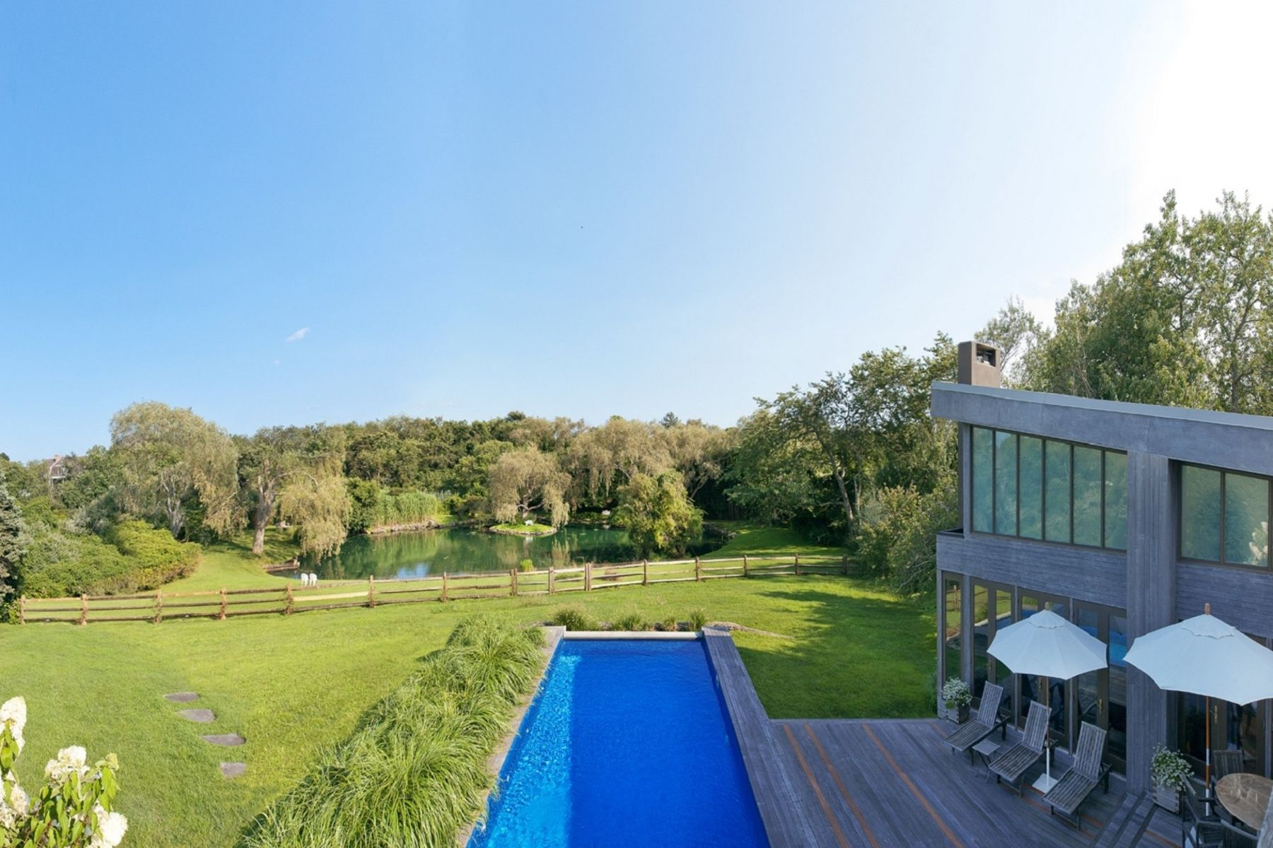 Single Family Home for Active at Privacy and Tranquility 41 Wild Goose Lane Water Mill, New York 11976 United States