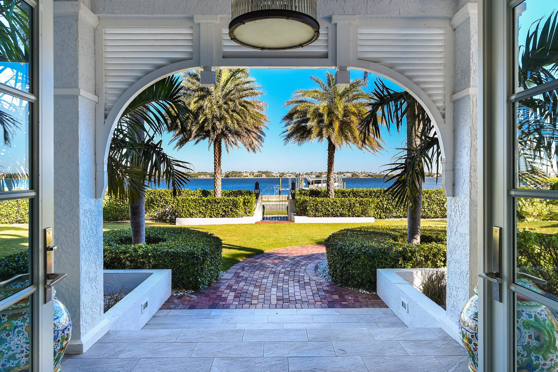 Single Family Home for Sale at Magnificent Waterfront Home 5615 S Flagler Dr West Palm Beach, Florida 33405 United States