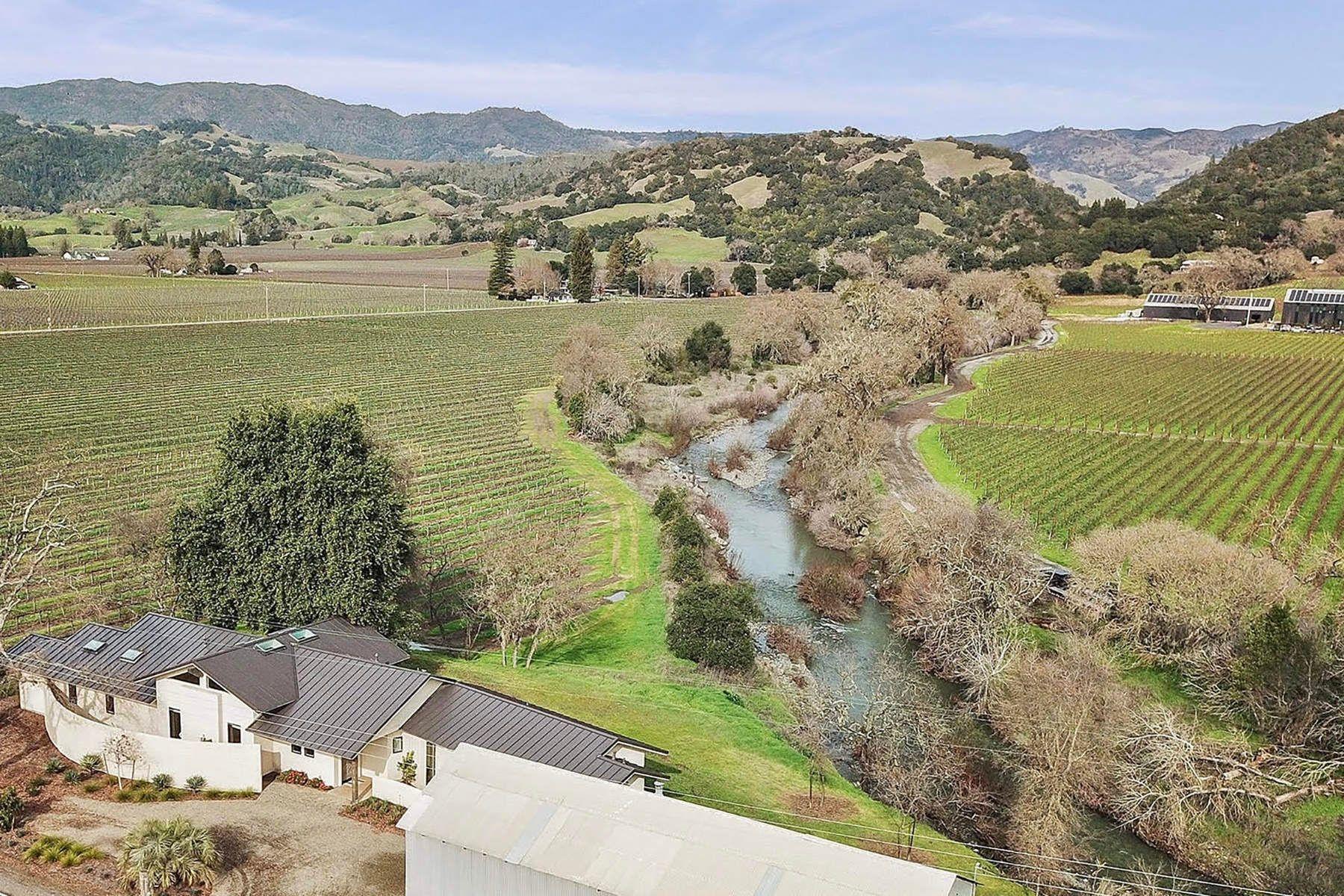 단독 가정 주택 용 매매 에 Pristine & Contemporary Healdsburg, 캘리포니아, 95448 미국