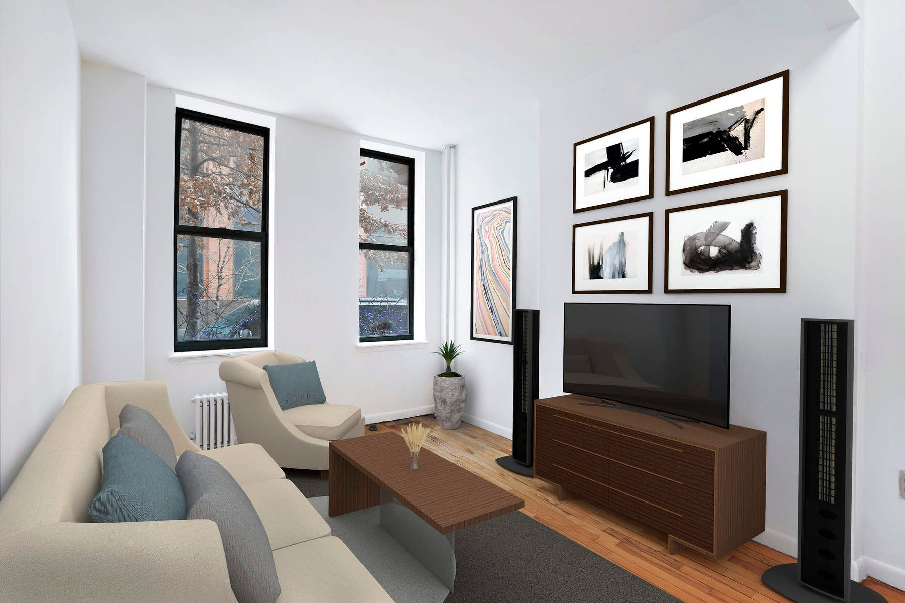 Co-op for Sale at Charming 1BDR in Midtown 500 West 55th Street Apt 1E, Midtown West, New York, New York, 10019 United States