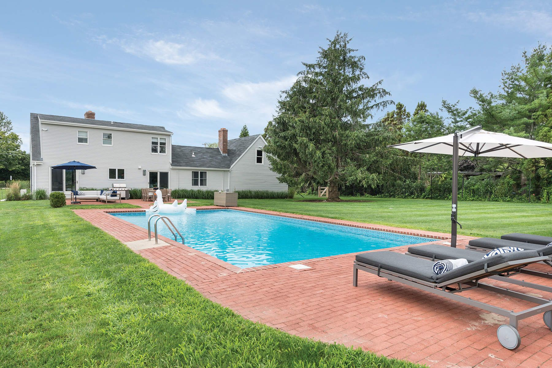 Single Family Home for Rent at Chic and Beachy Water Mill Contemporary Water Mill, New York 11976 United States