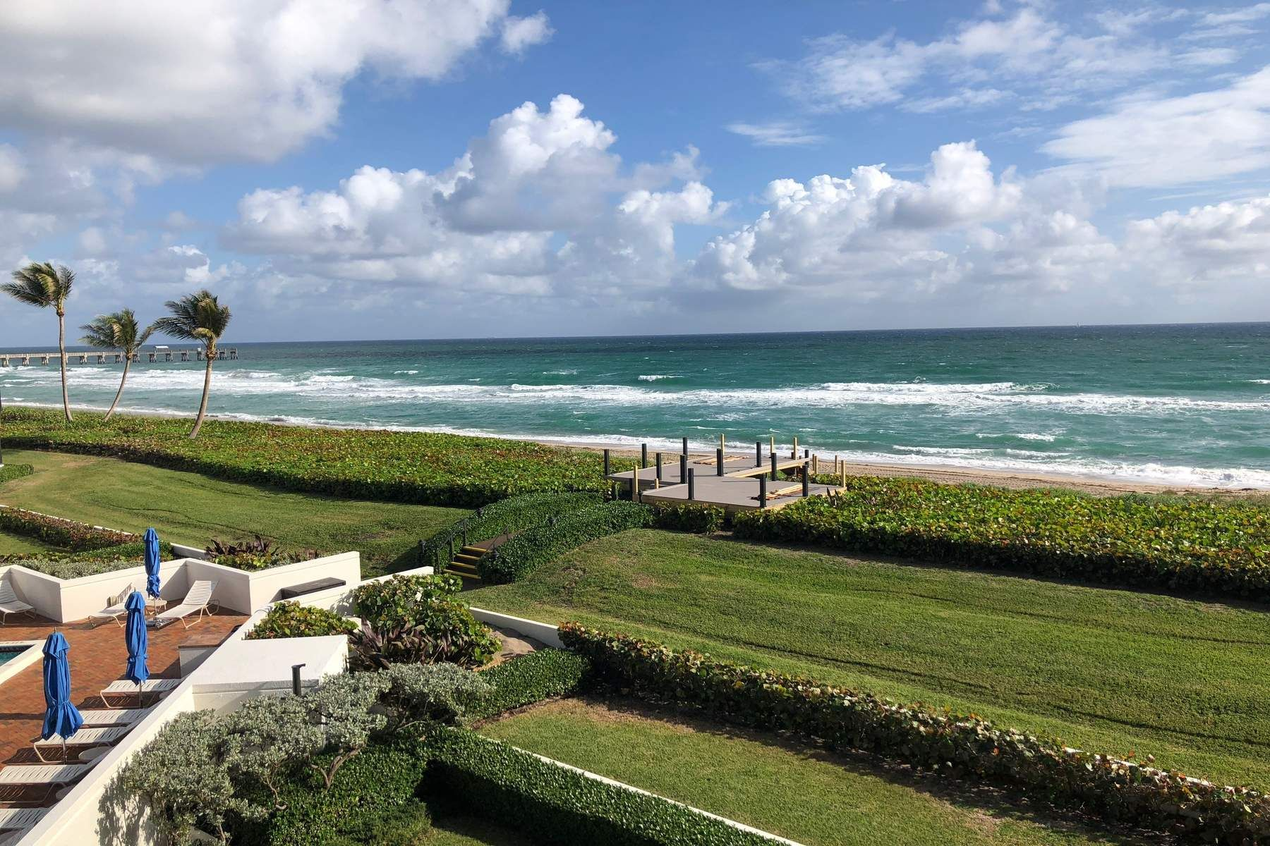 Condominium for Sale at Contemporary Oceanfront Oasis 3120 S Ocean Blvd 1-101, Palm Beach, Florida, 33480 United States