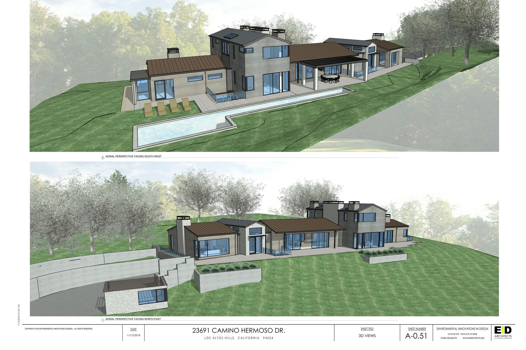 Single Family Home for Active at LAH 1.3 acres w/ Plans for Modern Home 23691 Camino Hermoso Dr Los Altos Hills, California 94024 United States