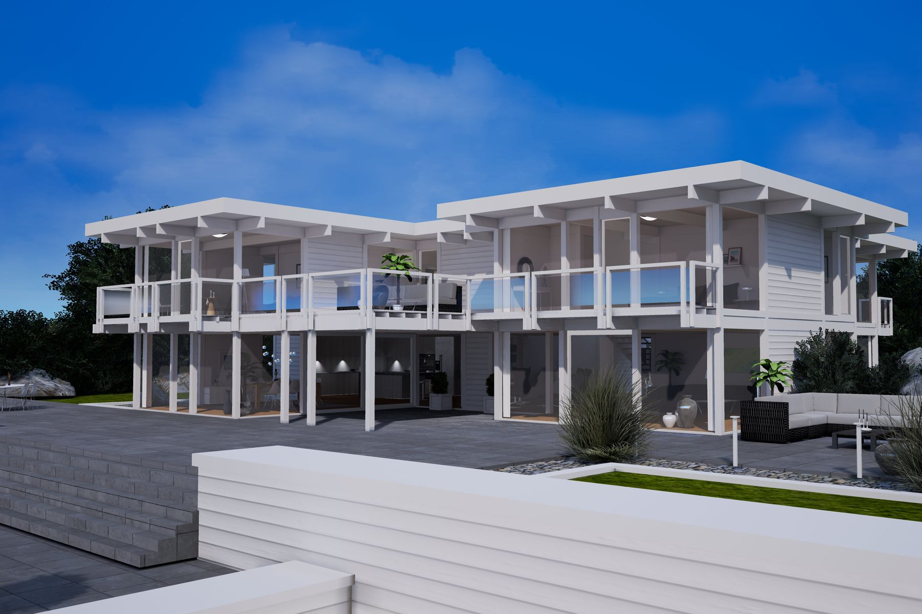 Single Family Homes för Försäljning vid BEACHHOUSE BY DAVINCI - DESIGN RENDERING 357 Town Line Road, Sagaponack, New York 11962 Förenta staterna