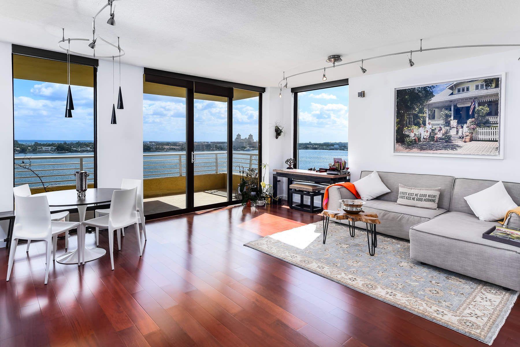 콘도미니엄 용 매매 에 Fabulous Intracoastal & Ocean Views 1551 N Flagler Drive 1118, West Palm Beach, 플로리다, 33401 미국